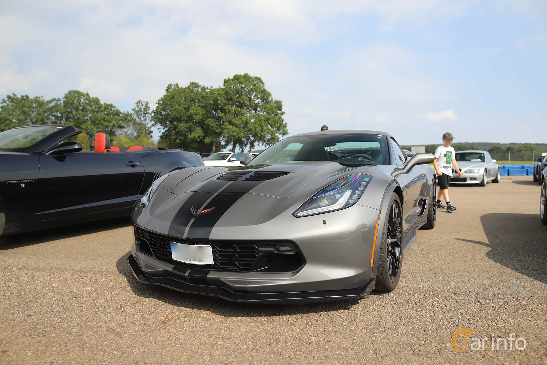 Front/Side  of Chevrolet Corvette Z06 Convertible 6.2 V8 Manual, 660ps, 2015 at Autoropa Racing day Knutstorp 2019