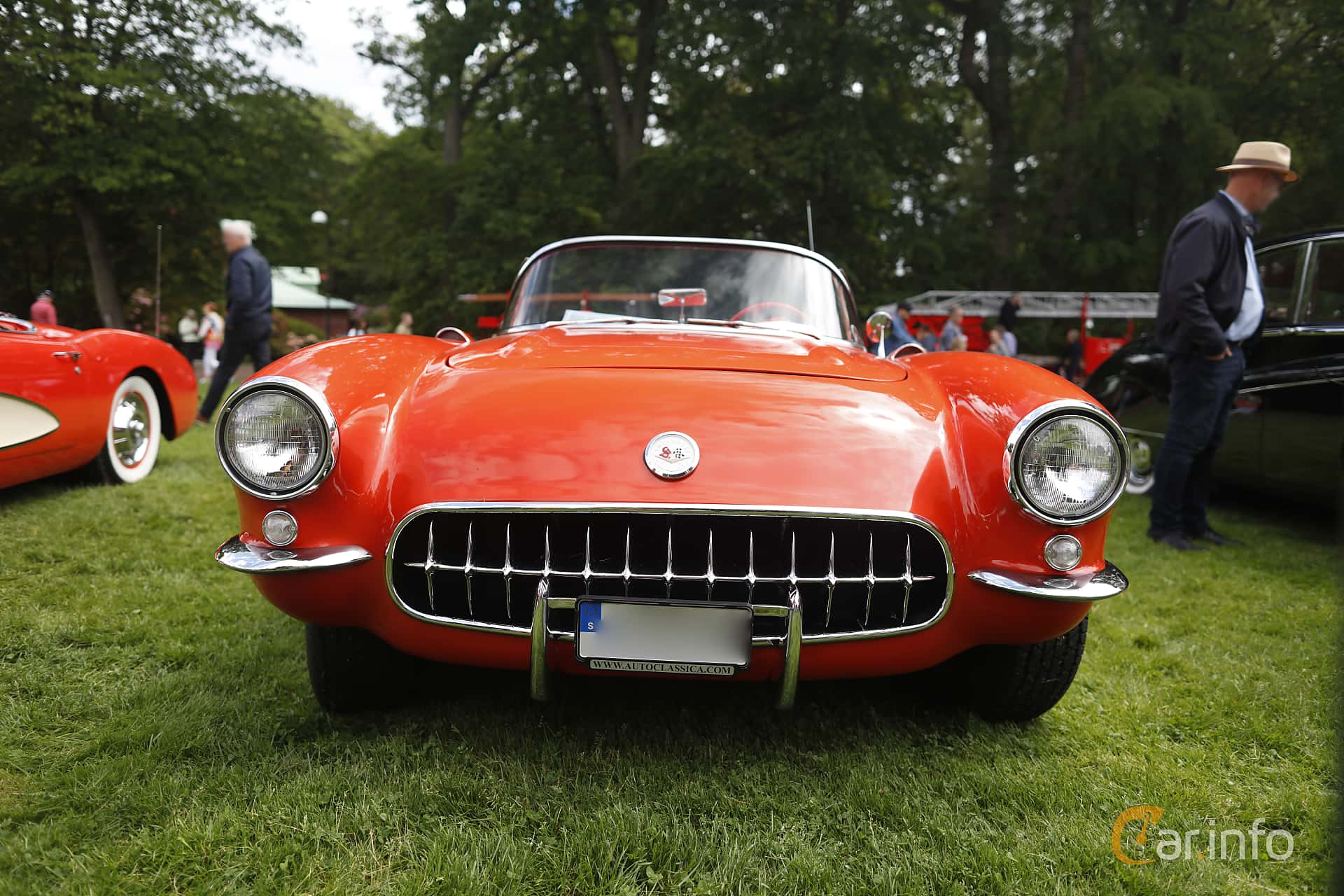 Front  of Chevrolet Corvette 4.3 V8 Manual, 228ps, 1956 at Sofiero Classic 2019