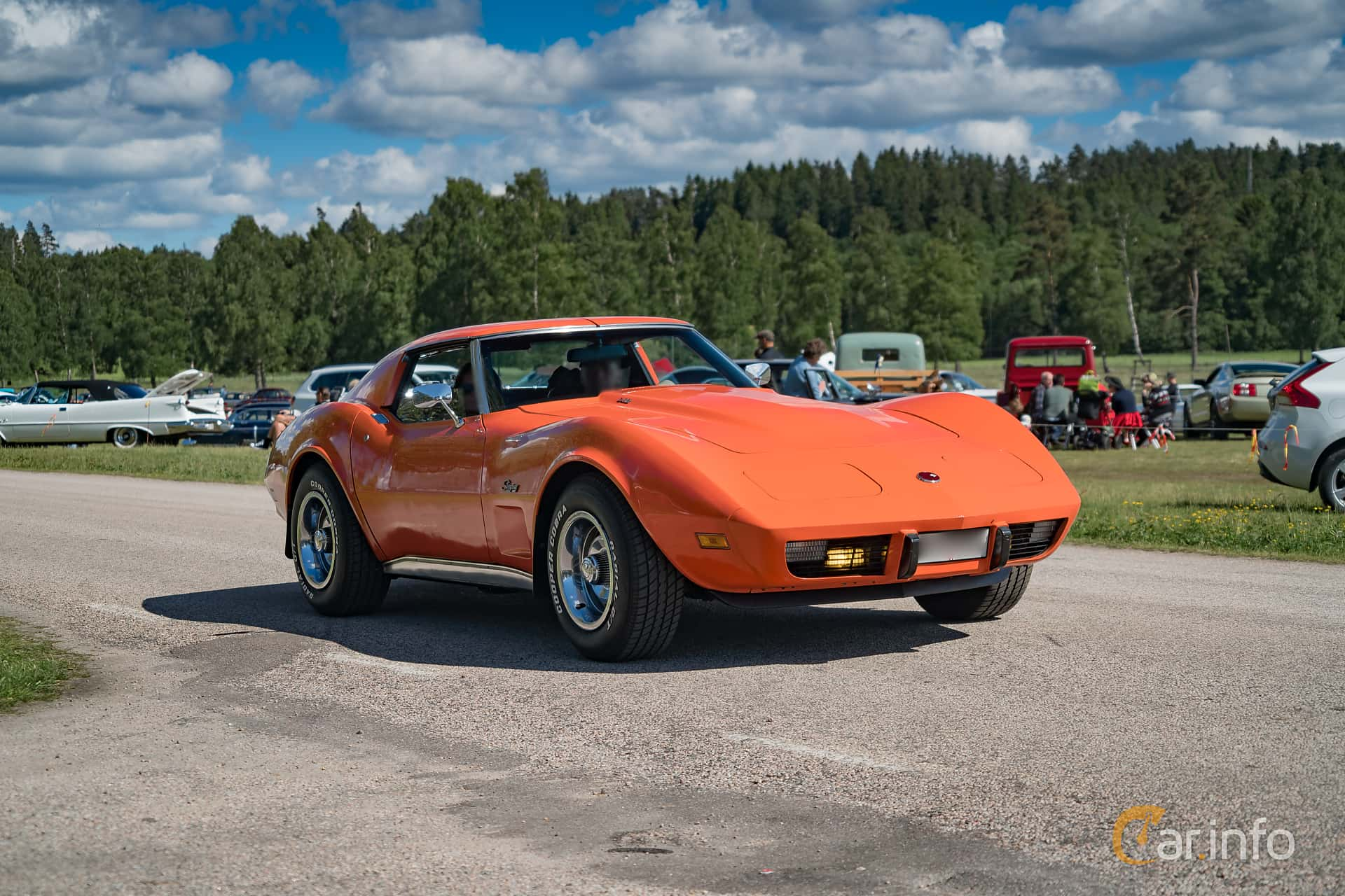 Chevrolet Corvette Stingray 5.7 V8 Automatic, 213hp, 1976 at Nostalgifestivalen i Vårgårda 2017