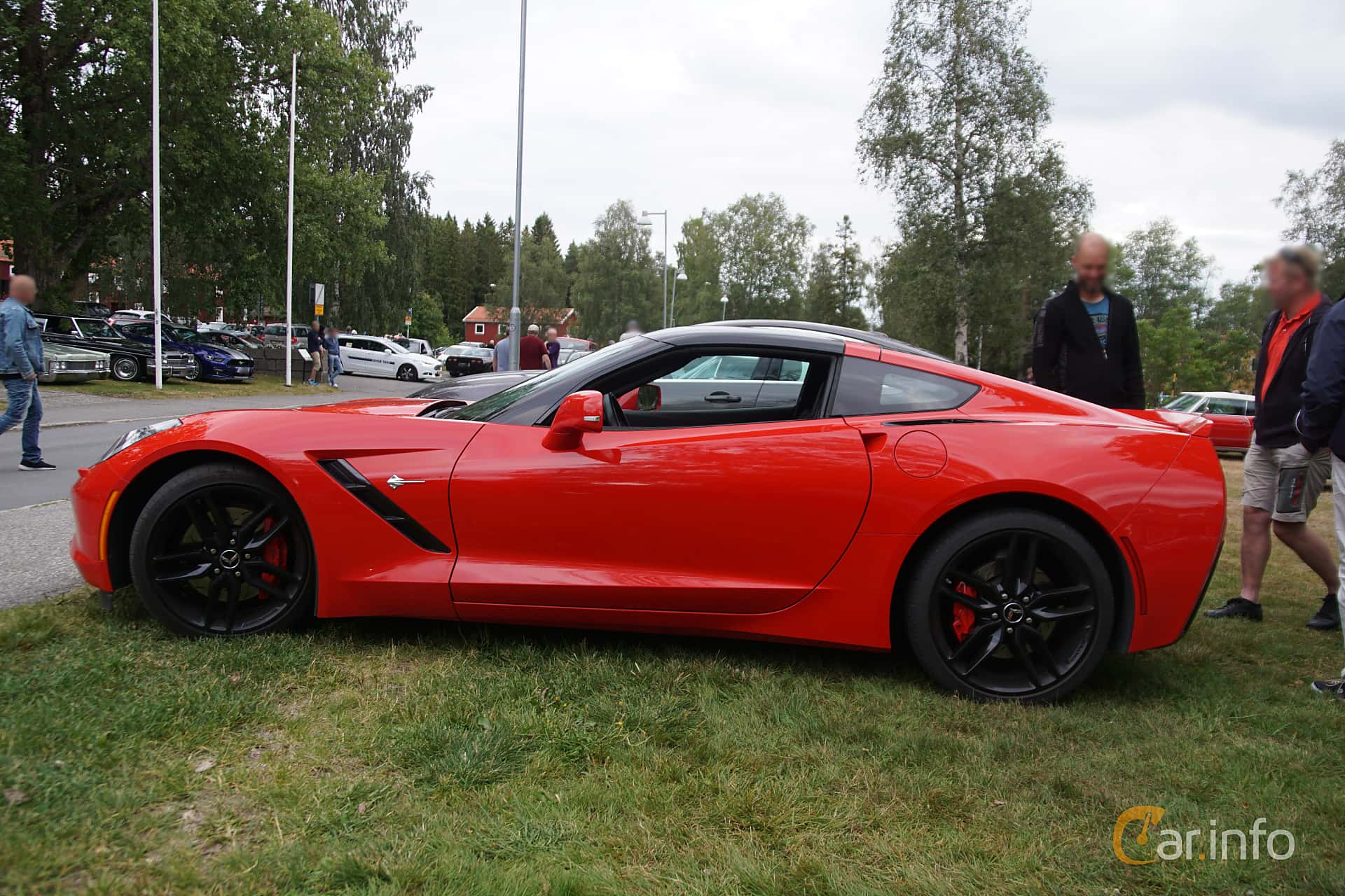 Side  of Chevrolet Corvette 6.2 V8 Manual, 466ps, 2014 at Onsdagsträffar på Gammlia Umeå 2019 vecka 32