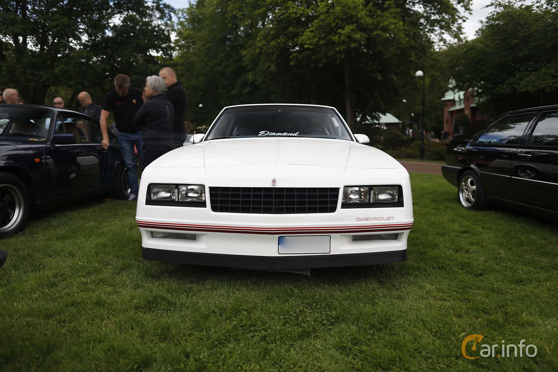Front  of Chevrolet Monte Carlo 5.0 V8 Automatic, 183ps, 1988 at Sofiero Classic 2019