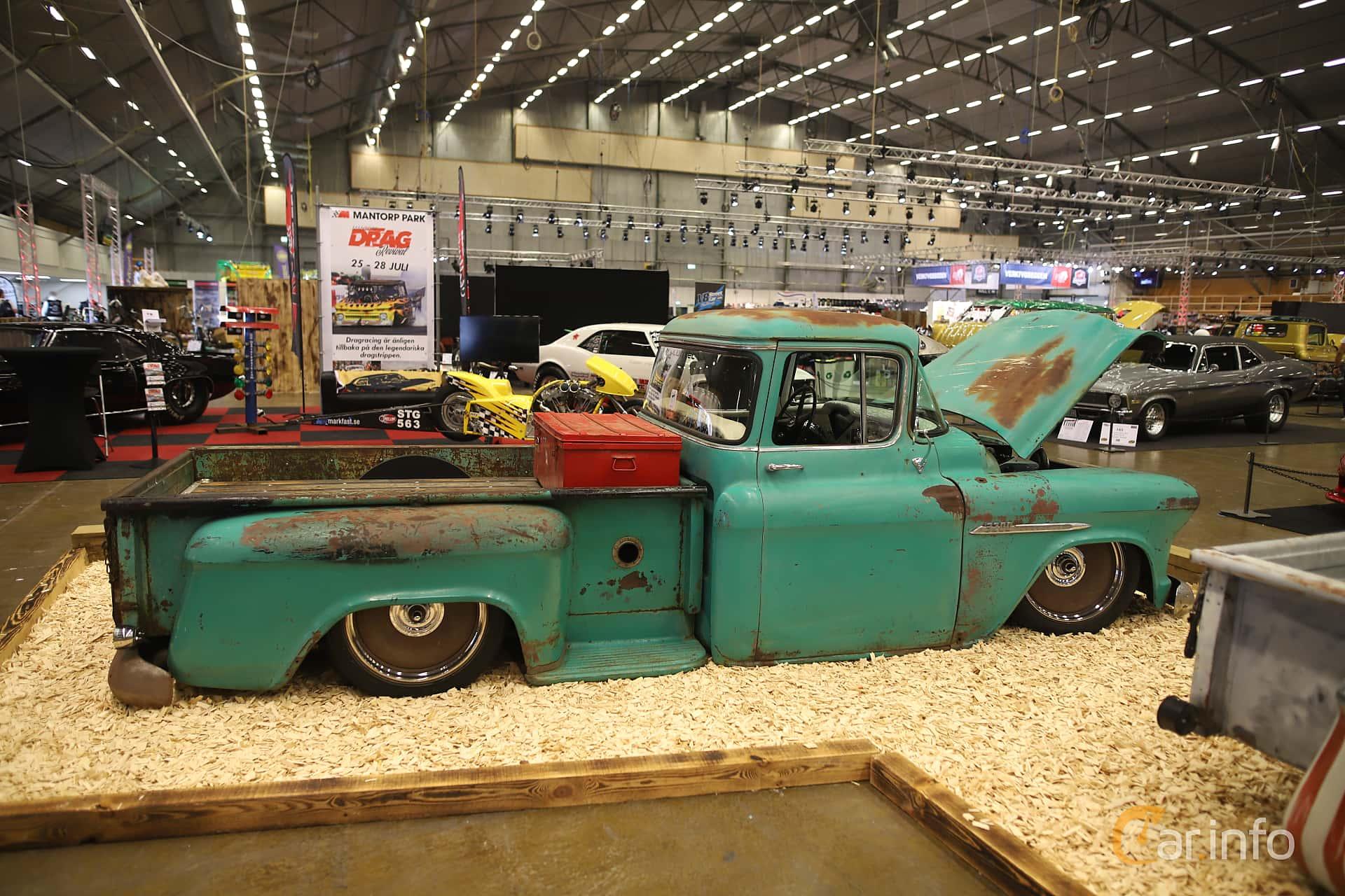 Chevrolet 3100/3200 4.3 V8 Hydra-Matic, 147hp, 1955 at Bilsport Performance & Custom Motor Show 2019