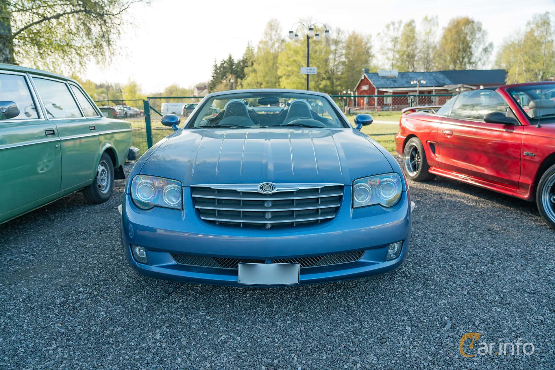 Front  of Chrysler Crossfire Roadster 3.2 V6 Automatic, 218ps, 2005 at Lissma Classic Car 2019 vecka 20