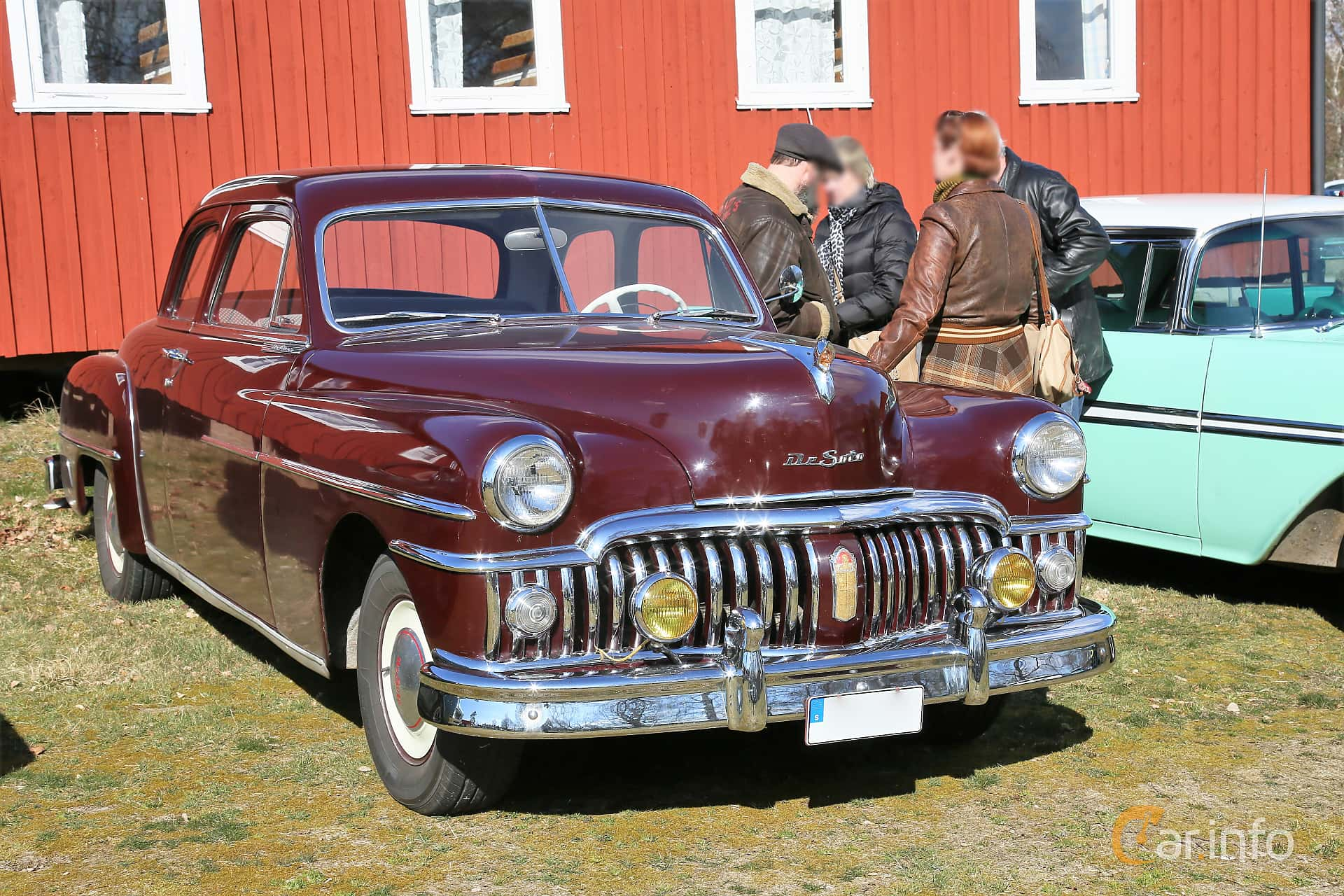 DeSoto Deluxe Club Coupé 3.9 Manual, 114hp, 1950 at Uddevalla Veteranbilsmarknad Backamo, Ljungsk 2019