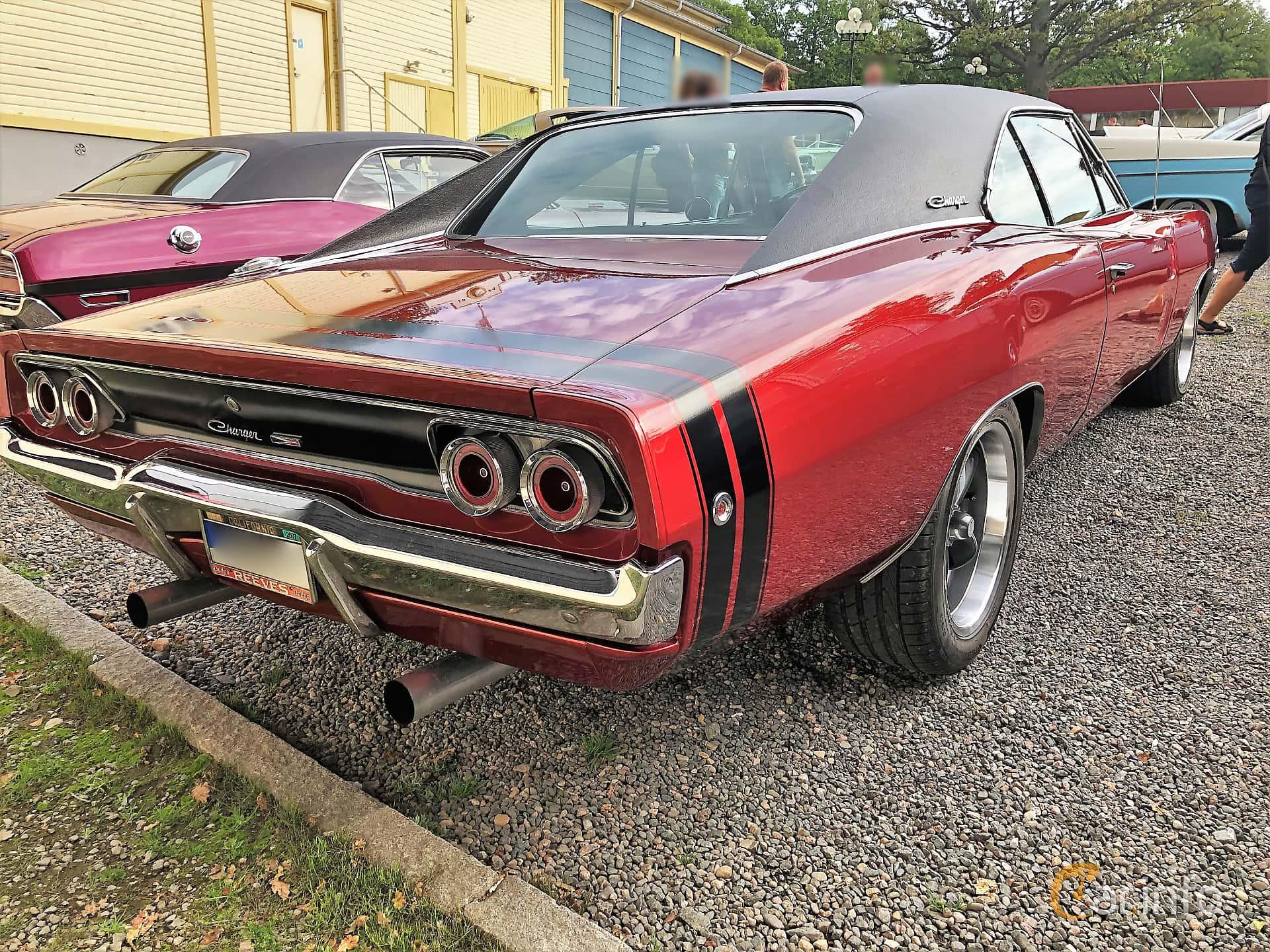 Back/Side of Dodge Charger 6.3 V8 TorqueFlite, 334ps, 1968 at Bil & MC-träffar i Huskvarna Folkets Park 2019 vecka 32 tema Hot Rods