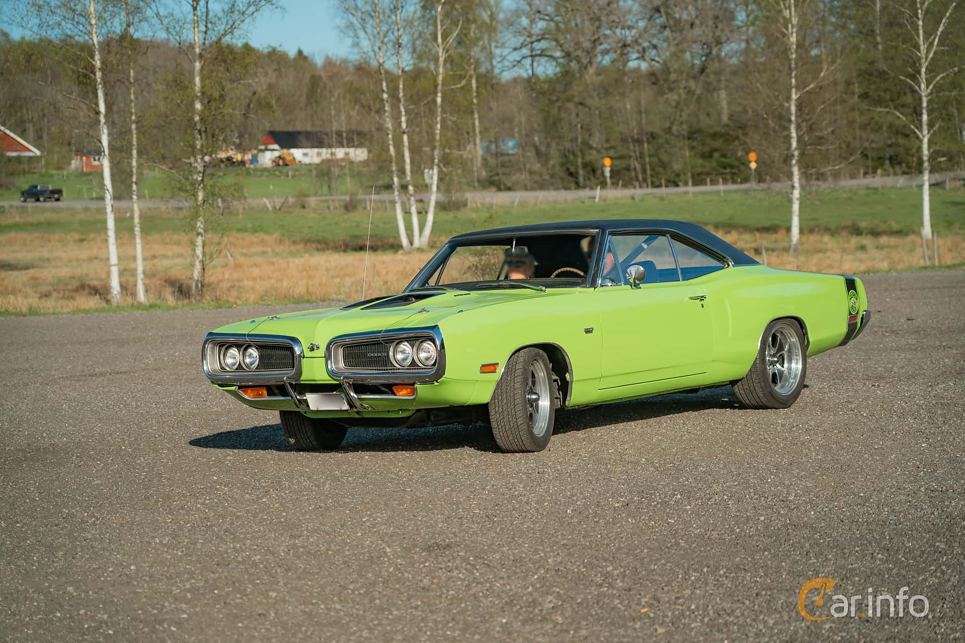 Front/Side  of Dodge Coronet Super Bee Hardtop 6.3 V8 TorqueFlite, 340ps, 1970 at Lissma Classic Car 2019 vecka 20