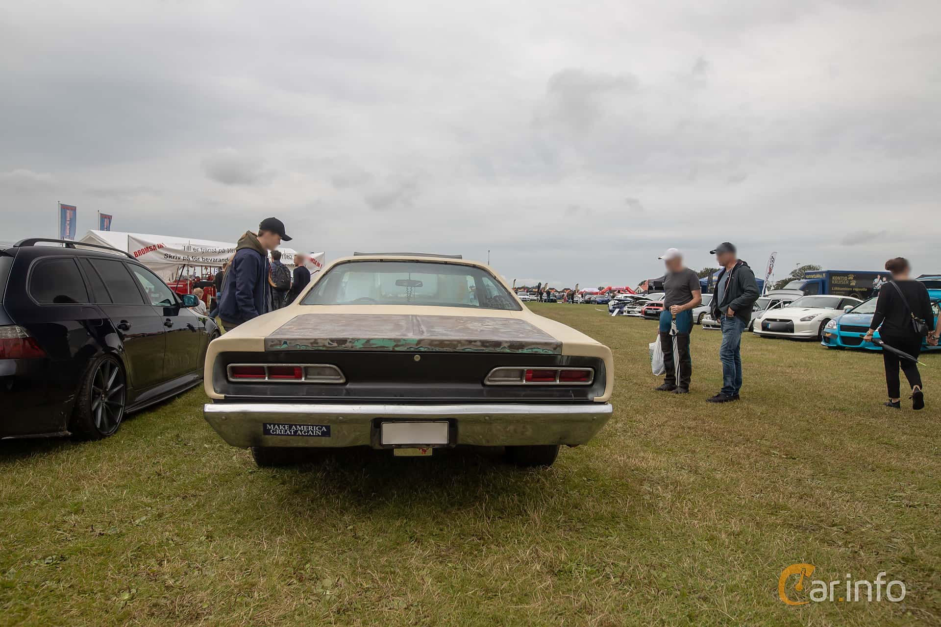 Front  of Dodge Coronet 500 Hardtop 6.3 V8 TorqueFlite, 294ps, 1969 at Vallåkraträffen 2019