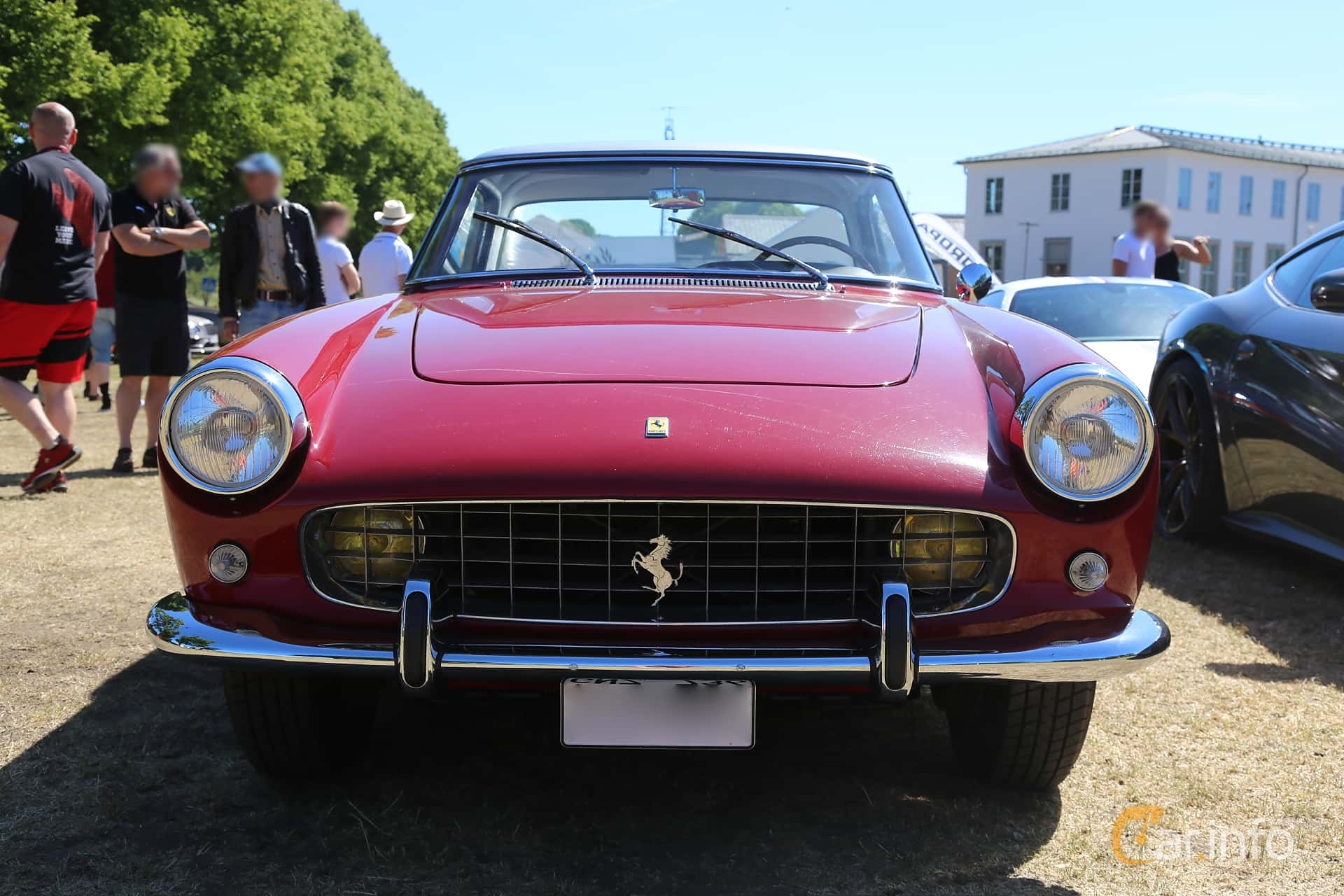 Front  of Ferrari 250 GT Coupé 3.0 V12 Manual, 240ps, 1959 at Cars and Coffee Stockholm 2018