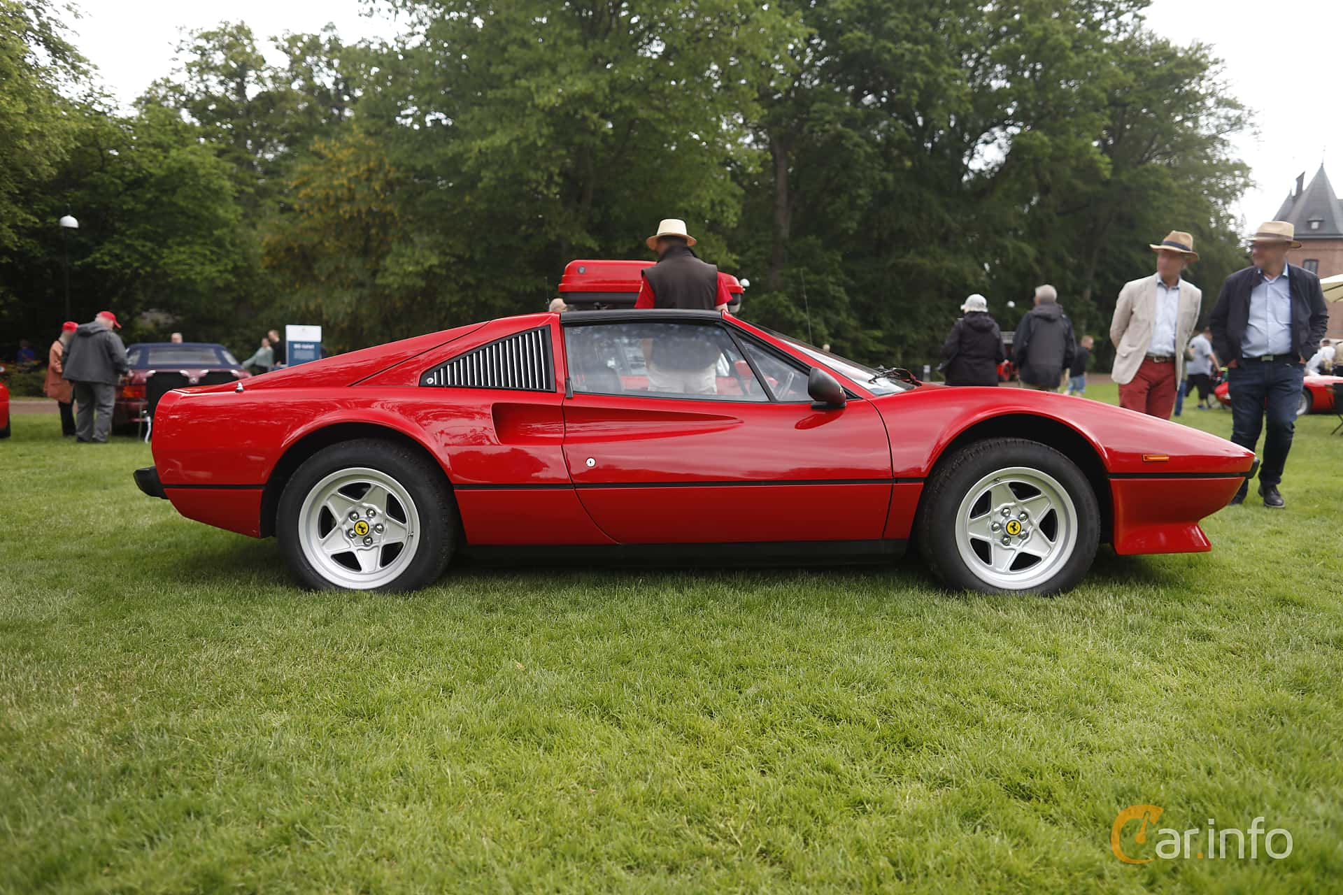 Side  of Ferrari 308 GTSi Quattrovalvole 2.9 V8 Manual, 240ps, 1985 at Sofiero Classic 2019