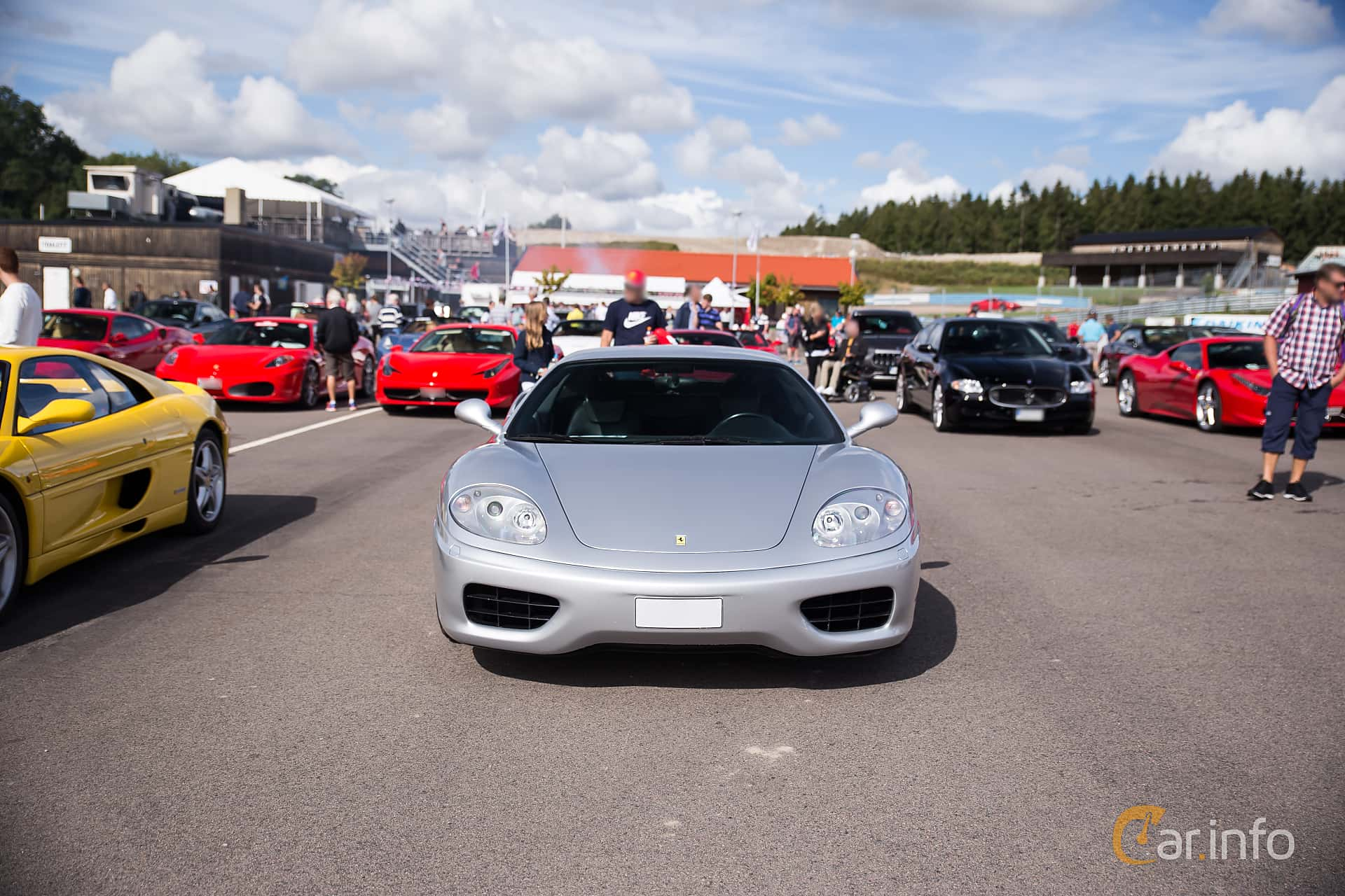 Ferrari 360 Modena 3.6 V8 Sequential, 400hp, 2001 at Autoropa Racing day Knutstorp 2017