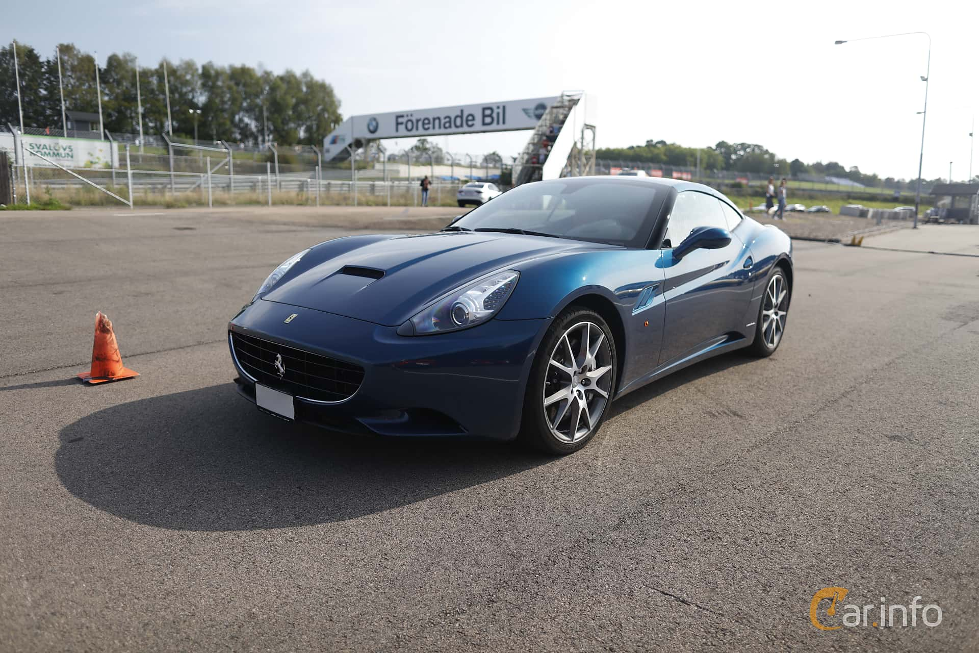 Front/Side  of Ferrari California 4.3 V8  DCT, 460ps, 2009 at Autoropa Racing day Knutstorp 2019