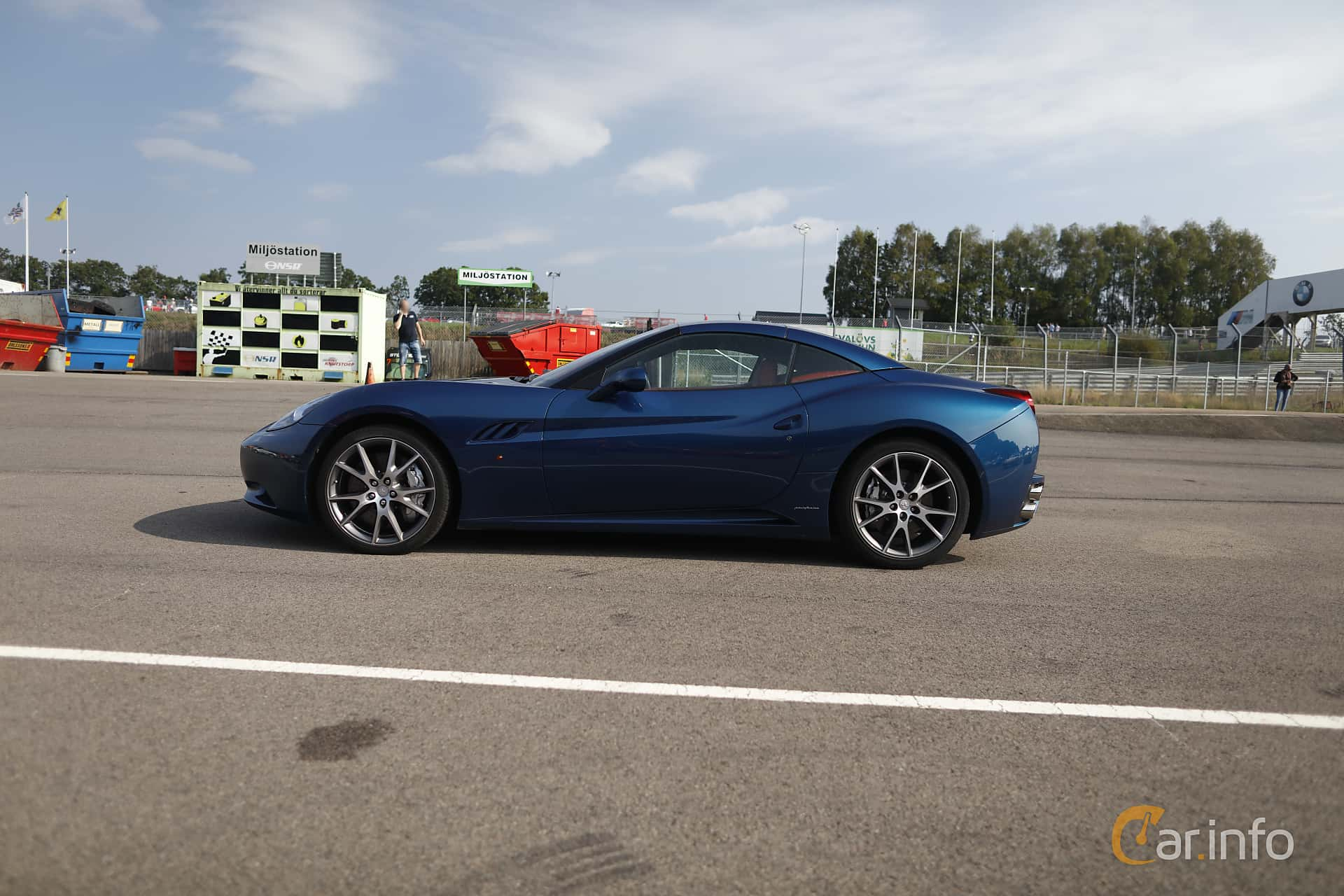 Side  of Ferrari California 4.3 V8  DCT, 460ps, 2009 at Autoropa Racing day Knutstorp 2019