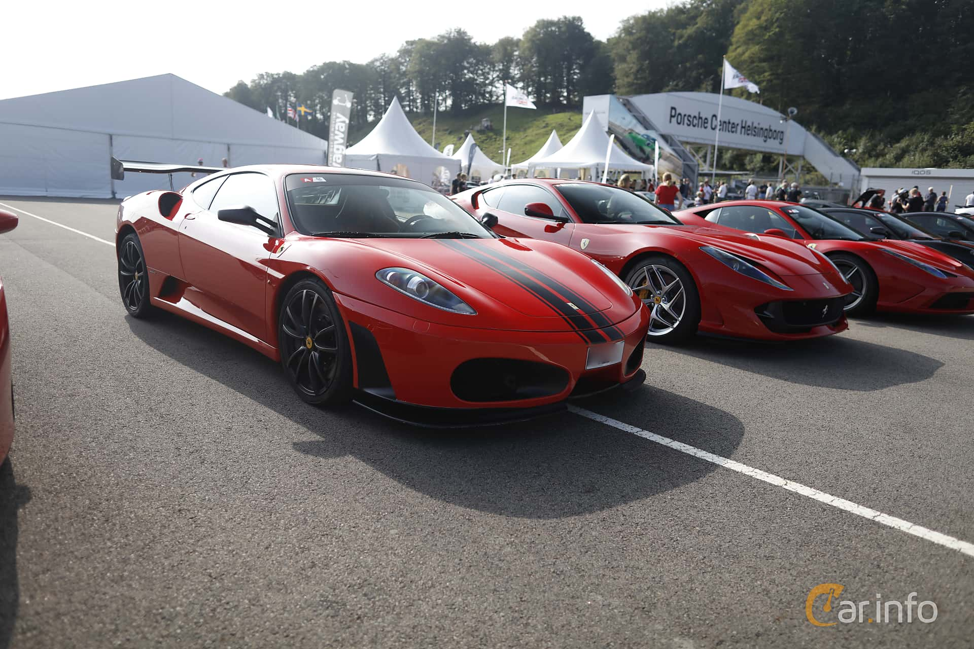 Front/Side  of Ferrari F430 4.3 V8 Sequential, 490ps, 2005 at Autoropa Racing day Knutstorp 2019
