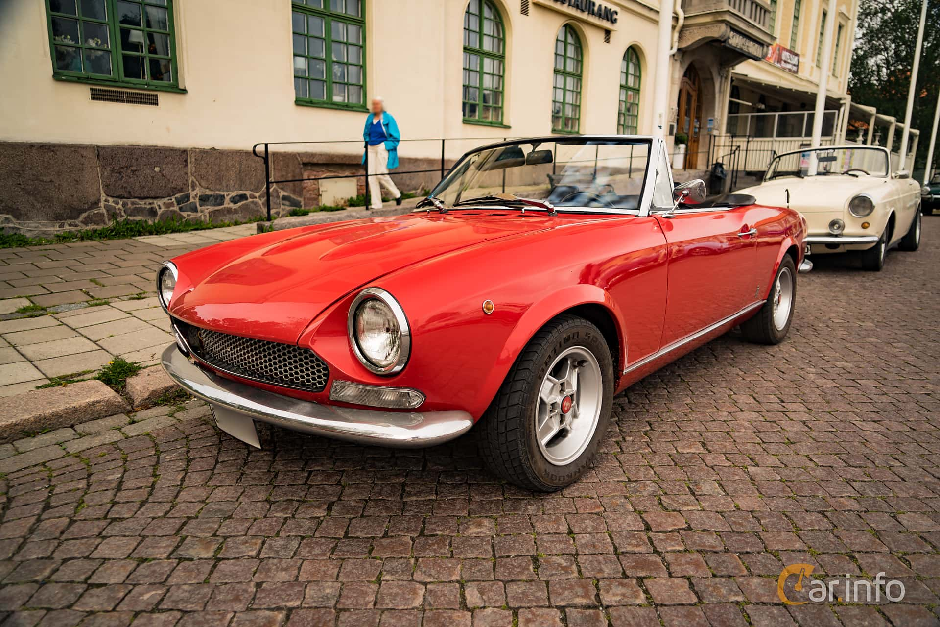 5 Images Of Fiat 124 Sport Spider 14 Manual 90hp 1970 By Front Side 90ps At Trstadsrallyt
