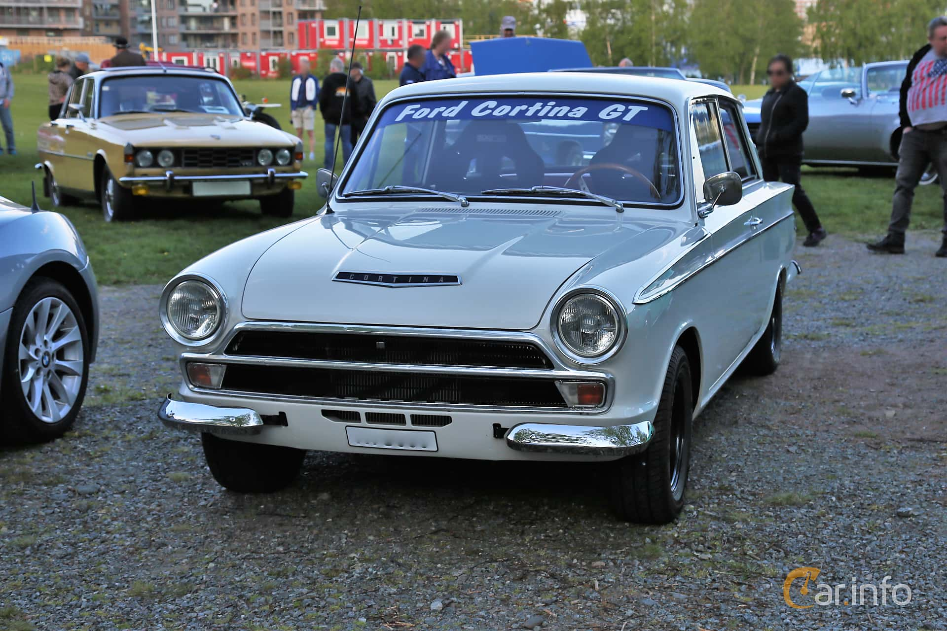 Front/Side  of Ford Cortina GT 2-door 1.5 Manual, 76ps, 1965