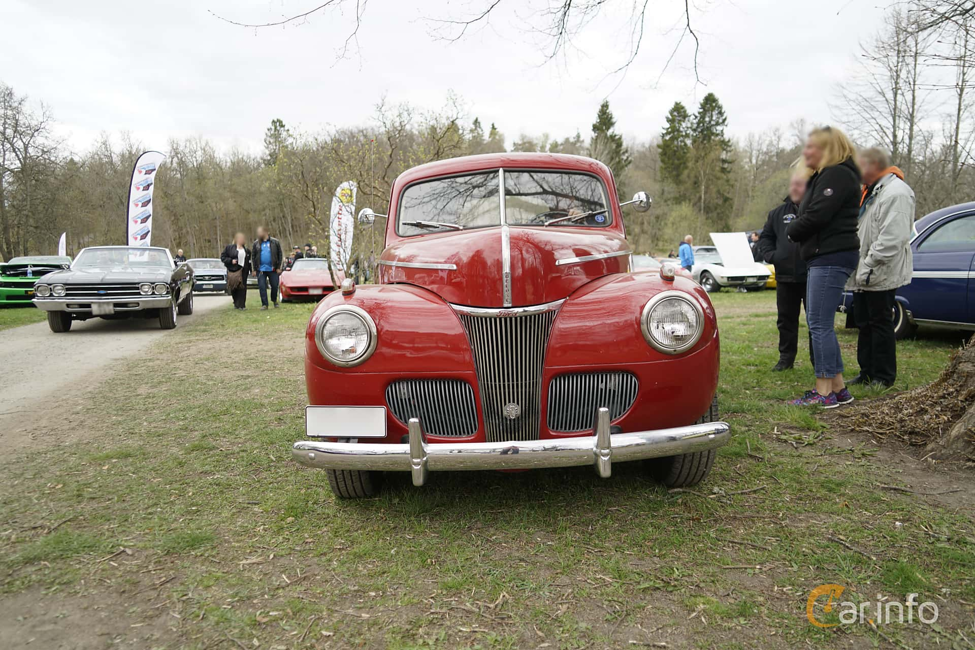 4 Images Of Ford Deluxe Coup 36 V8 Manual 91hp 1941 By Coupe Red Front 91ps At Classic Cars Spring