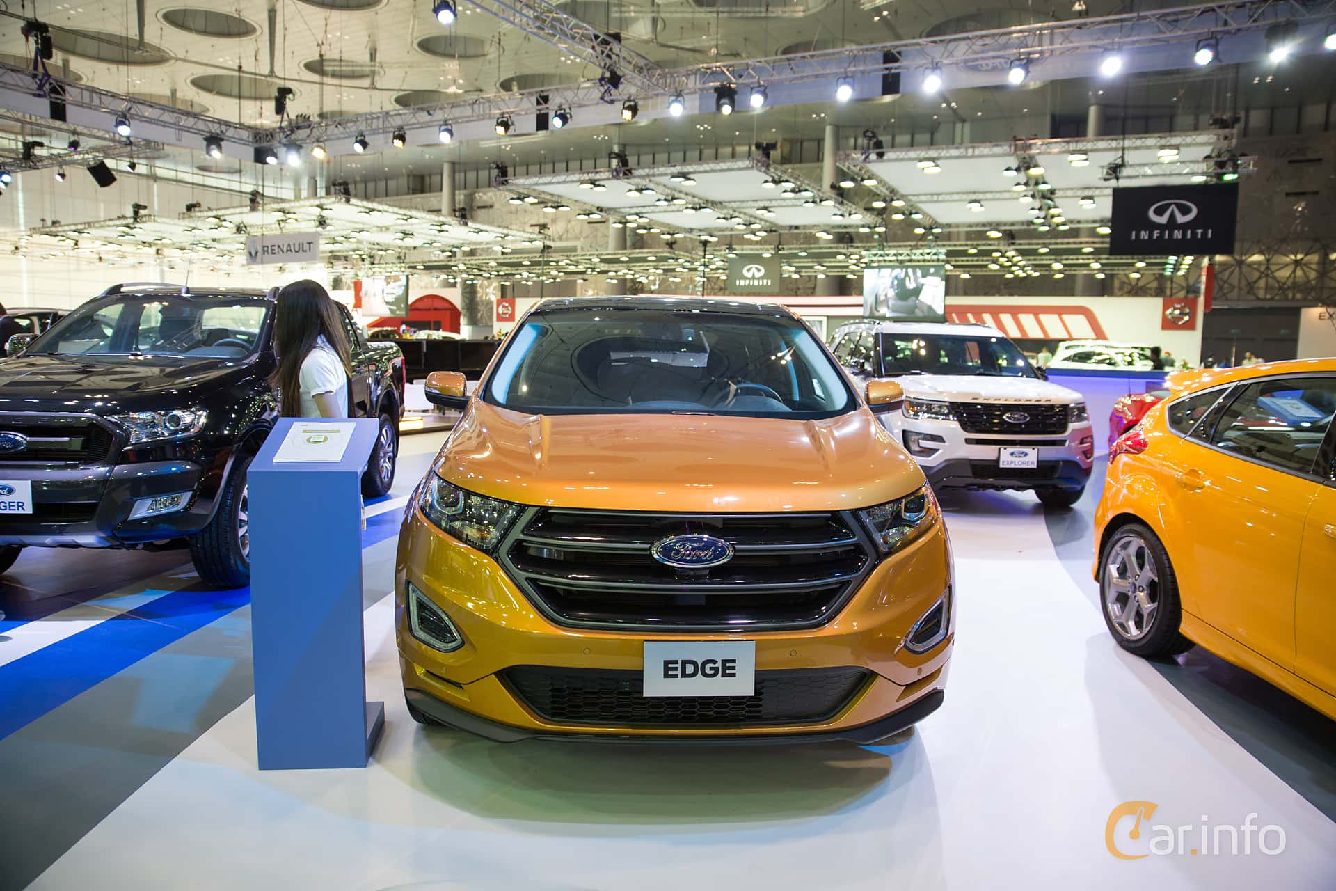 Front Of Ford Edge  At Qatar Motorshow