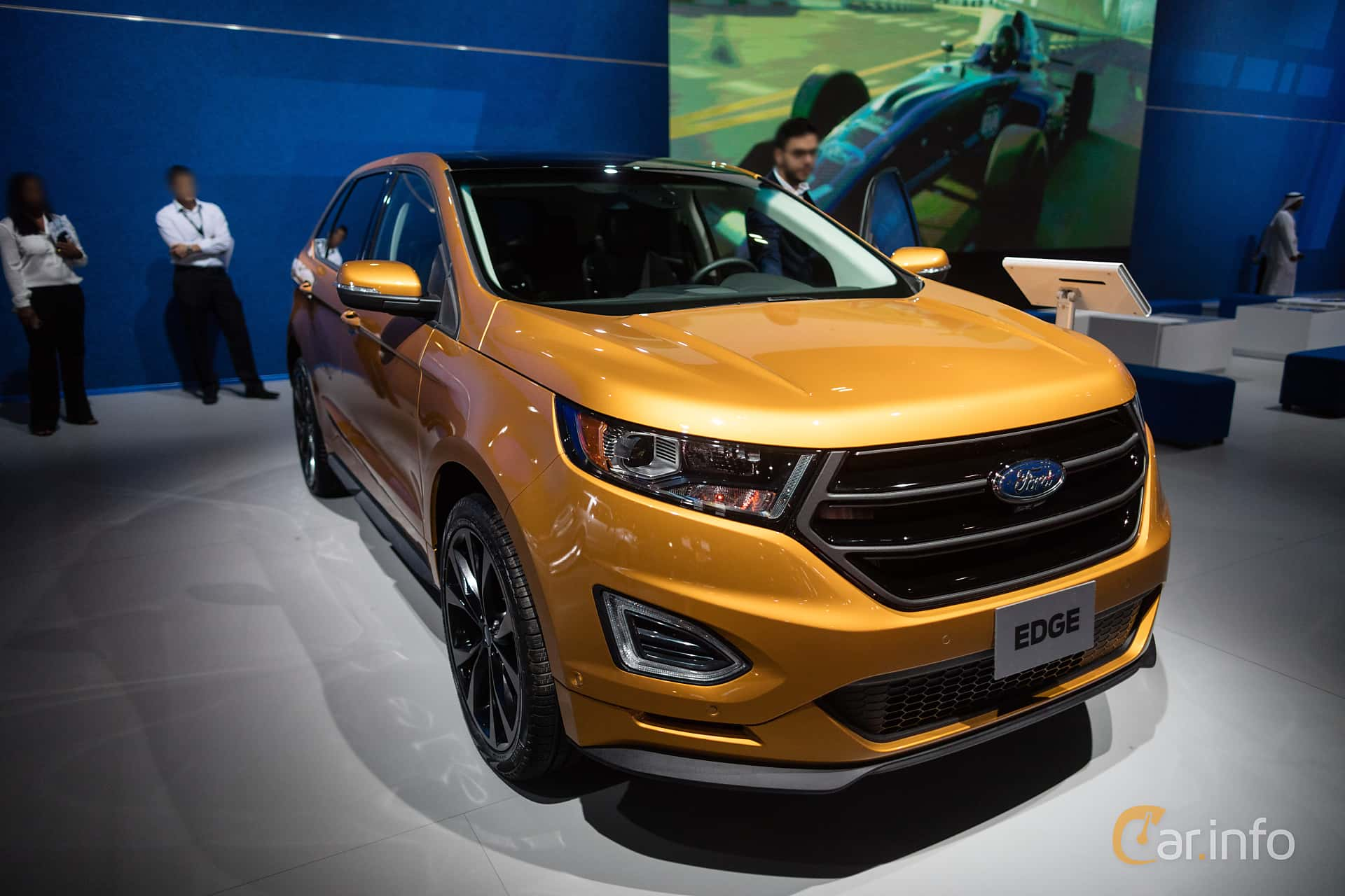 Front Side Of Ford Edge  At Dubai Motor Show