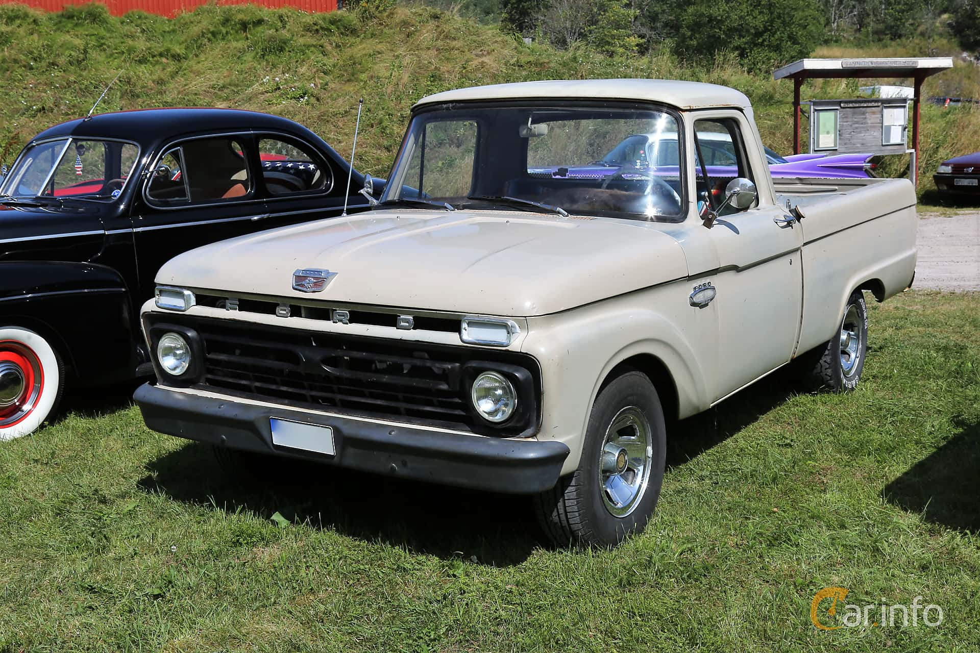 Front/Side  of Ford F Regular Cab 3.9 Manual, 150ps, 1966 at A-bombers - Old Style Weekend Backamo 2019