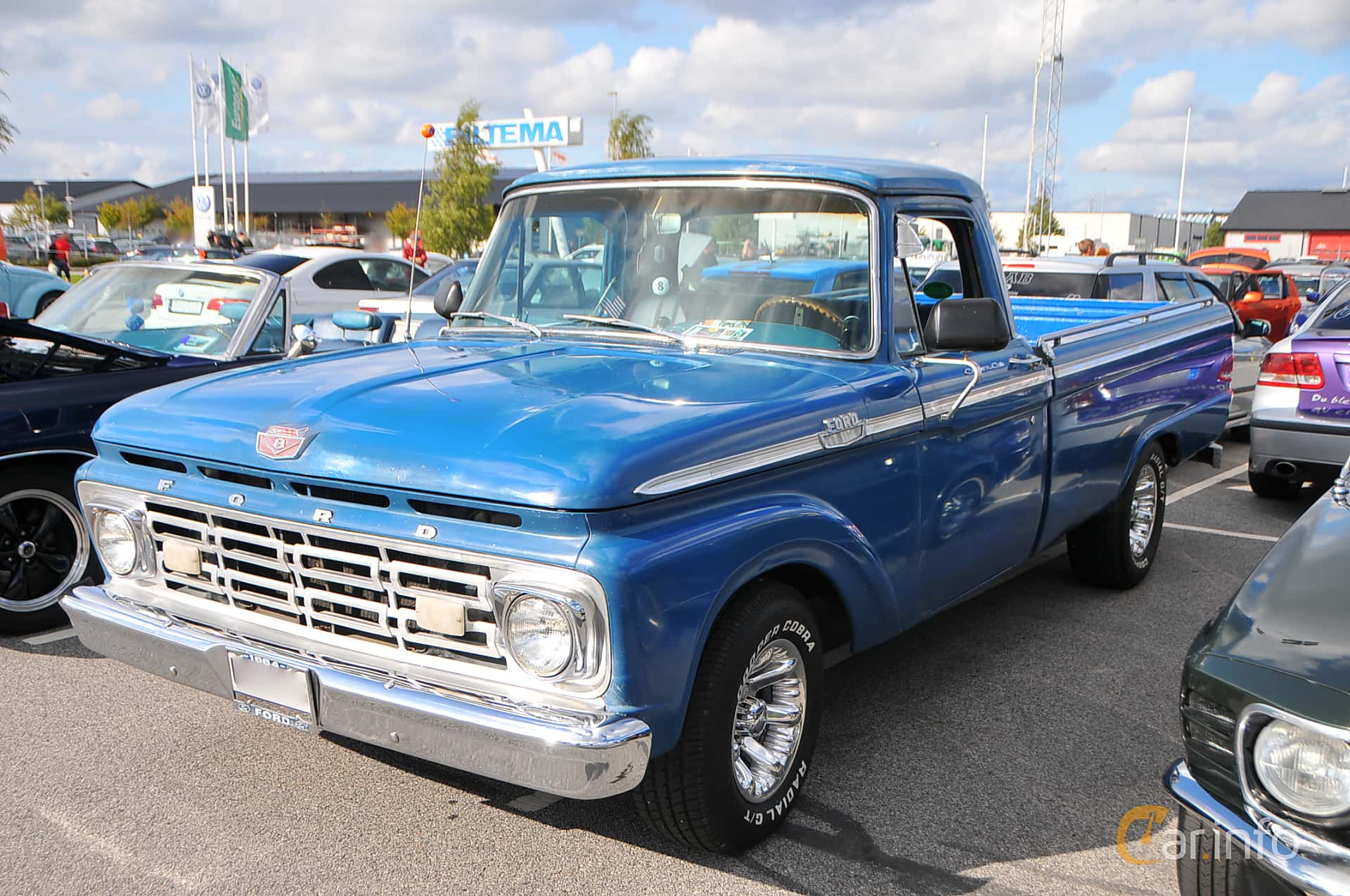 Front/Side  of Ford F Regular Cab 4.3 Manual, 1964 at Biltema Gatbilar Lund 2018