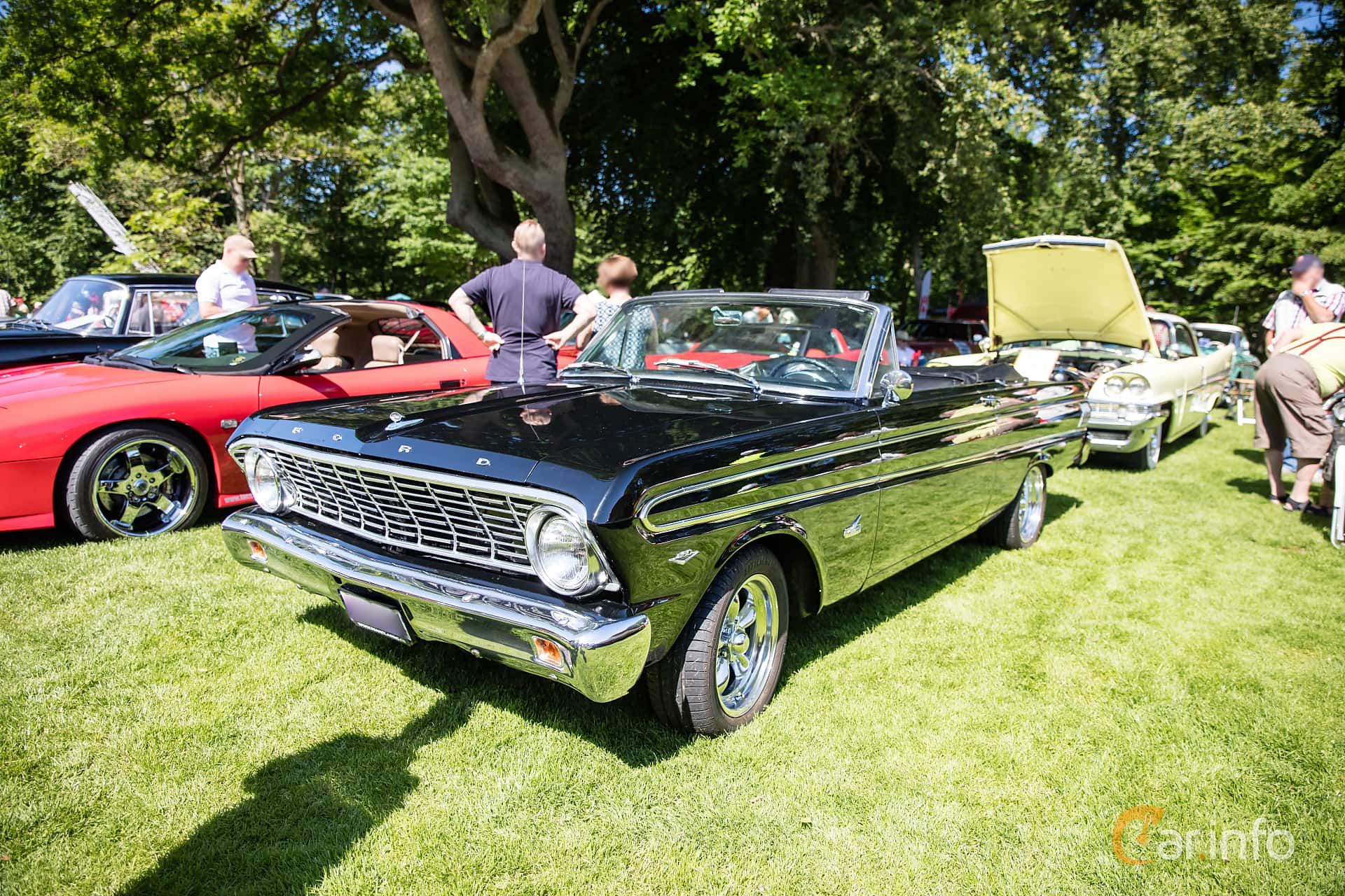 Front/Side  of Ford Falcon Convertible 4.3 V8 Automatic, 166ps, 1964 at Sofiero Classic 2017