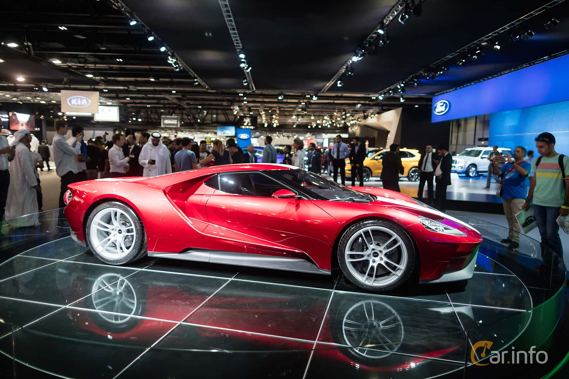 Side Of Ford Gt   V Ecoboost Dct Ps  At Dubai Motor Show