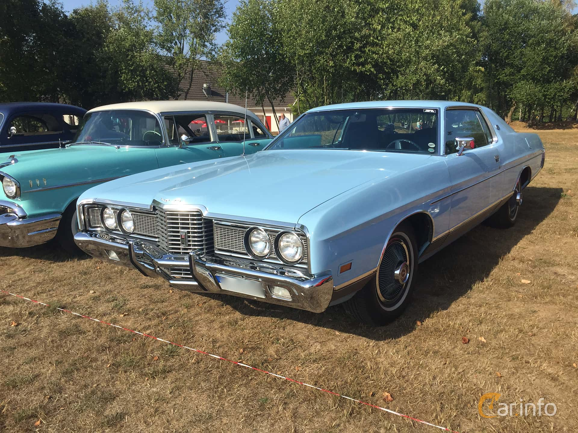 Ford LTD Brougham 2-door Hardtop 7.0 V8 Automatic, 215hp, 1972 at Eddys bilträff Augusti 2018