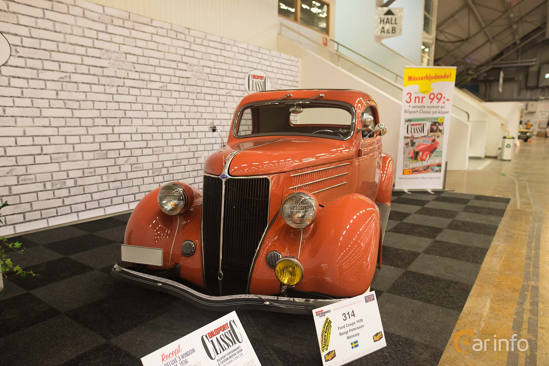 Ford Model 68 3-window Coupé 3.6 V8 Manual, 86hp, 1936 at Bilsport Performance & Custom Motor Show 2018