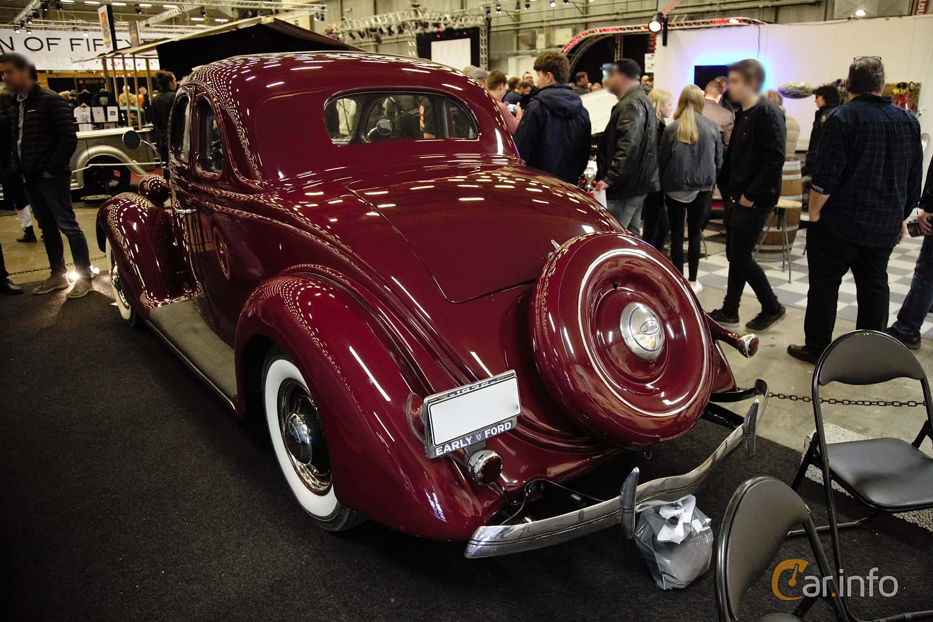 Ford Model 68 5-fönsters Coupé 3.6 V8 Manuell, 86hk, 1936 at Bilsport Performance & Custom Motor Show 2017