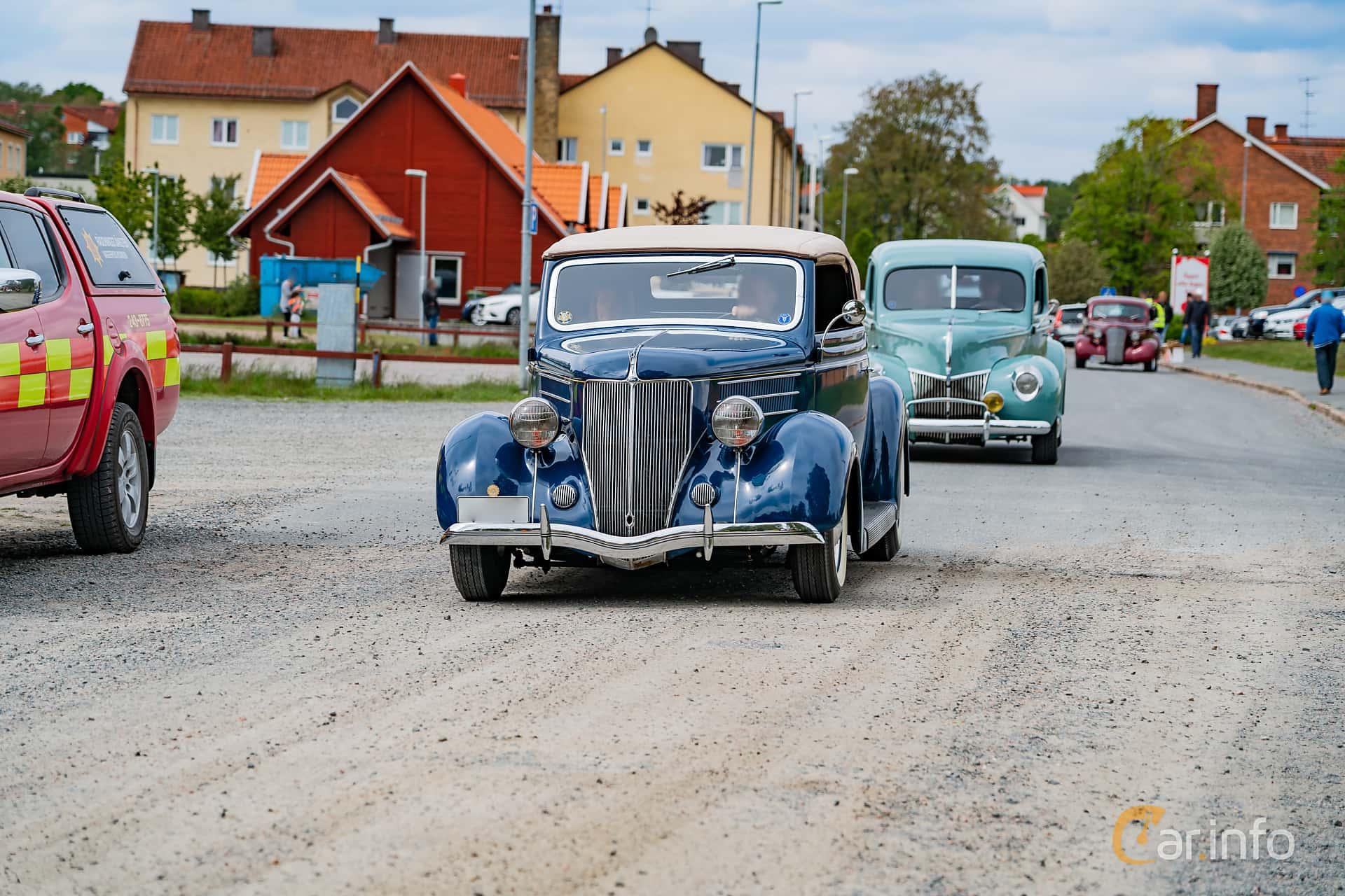 Ford Model 68 Cabriolet 3.6 V8 Manual, 86hp, 1936 at Riksettanrallyt 2019 Skillingaryd