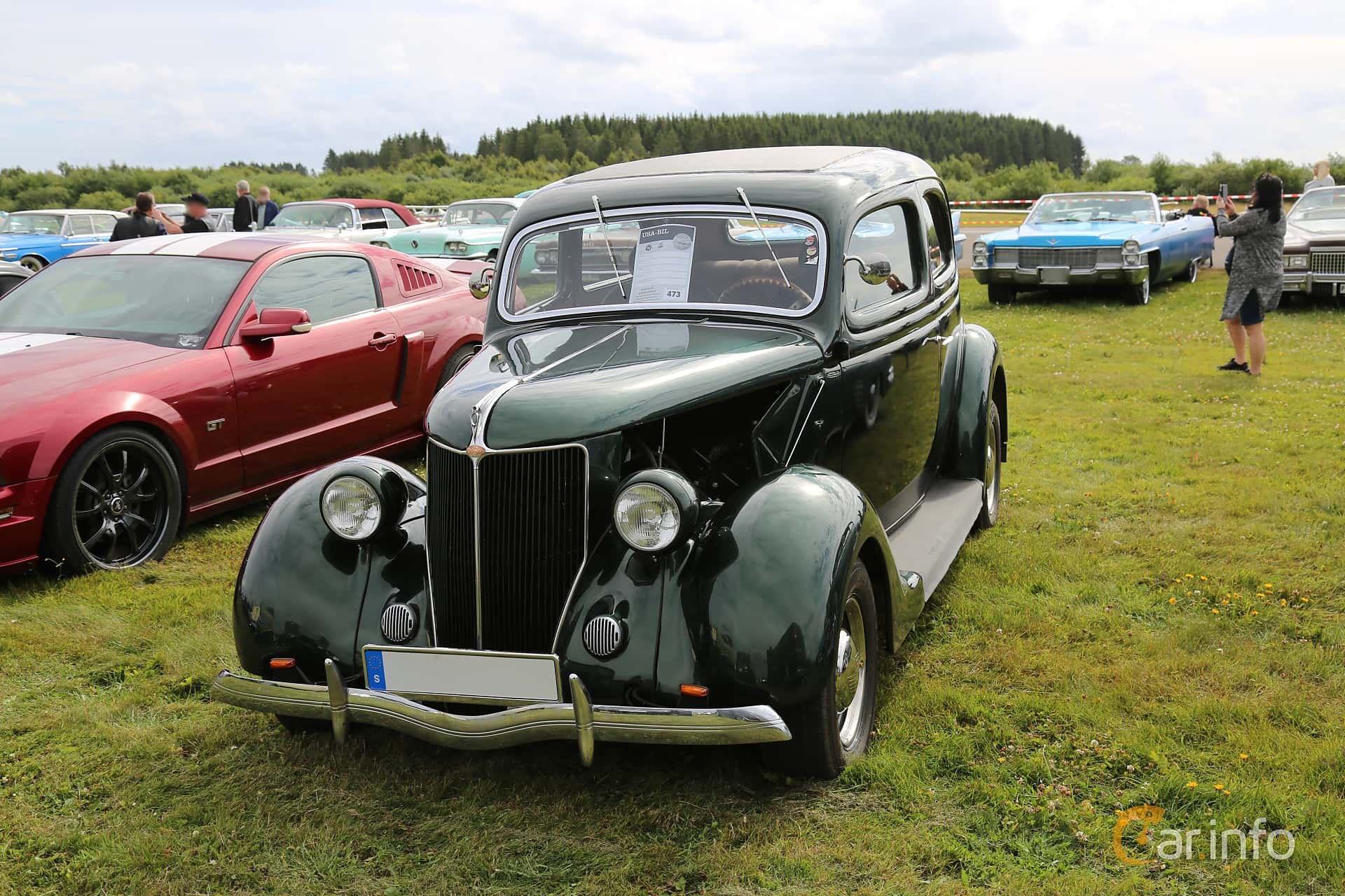 Ford Model 68 Tudor Touring Sedan 3.6 V8 Manuell, 86hk, 1936 at Falköping Nasco Yankee Meet 2017