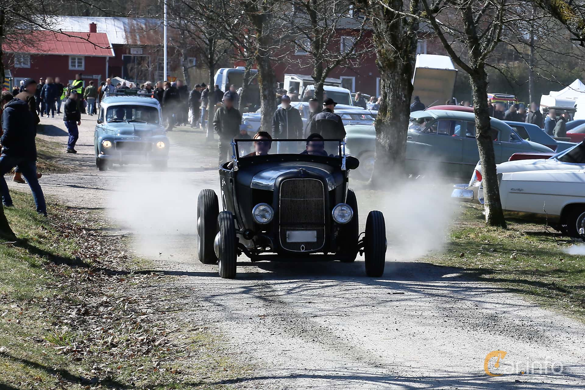 Front  of Ford Model A Roadster 3.3 Manual, 41ps, 1929 at Uddevalla Veteranbilsmarknad Backamo, Ljungsk 2019