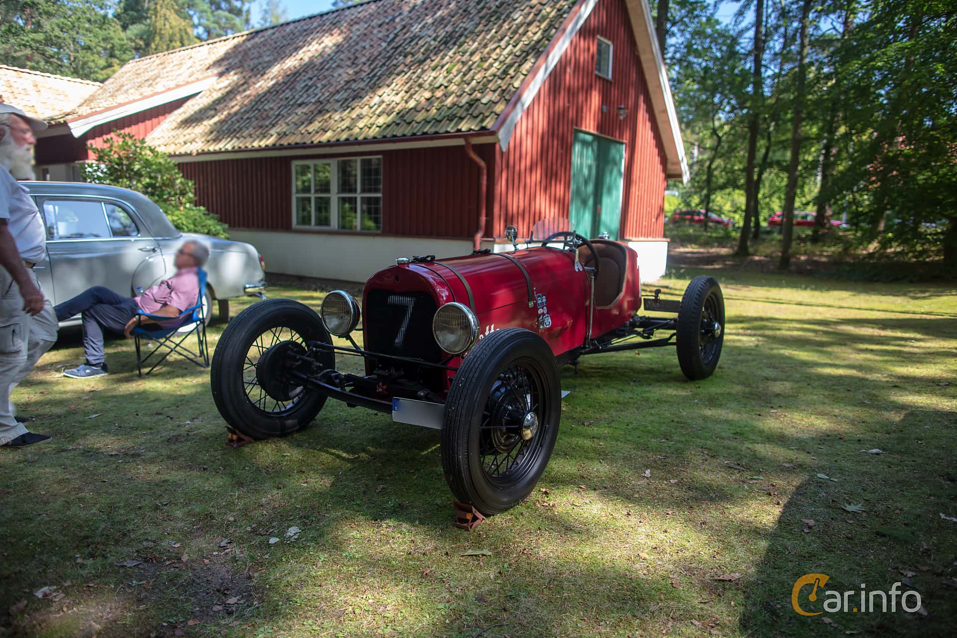 Front/Side  of Ford Model T Runabout 2.9 Manual, 20ps, 1925 at Lergöksträffen Ängelholm 2019