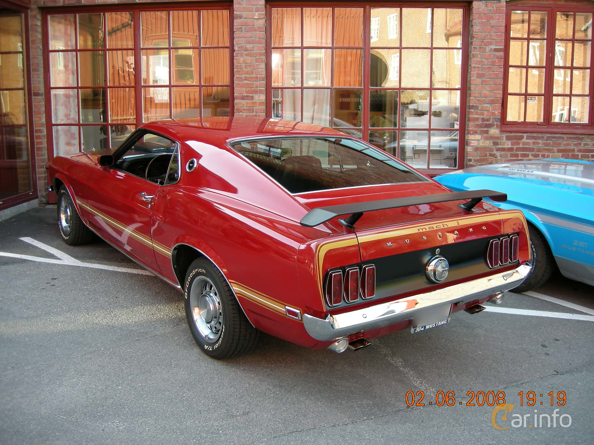 Ford Mustang Mach I 5.8 V8 Automatic, 254hp, 1969
