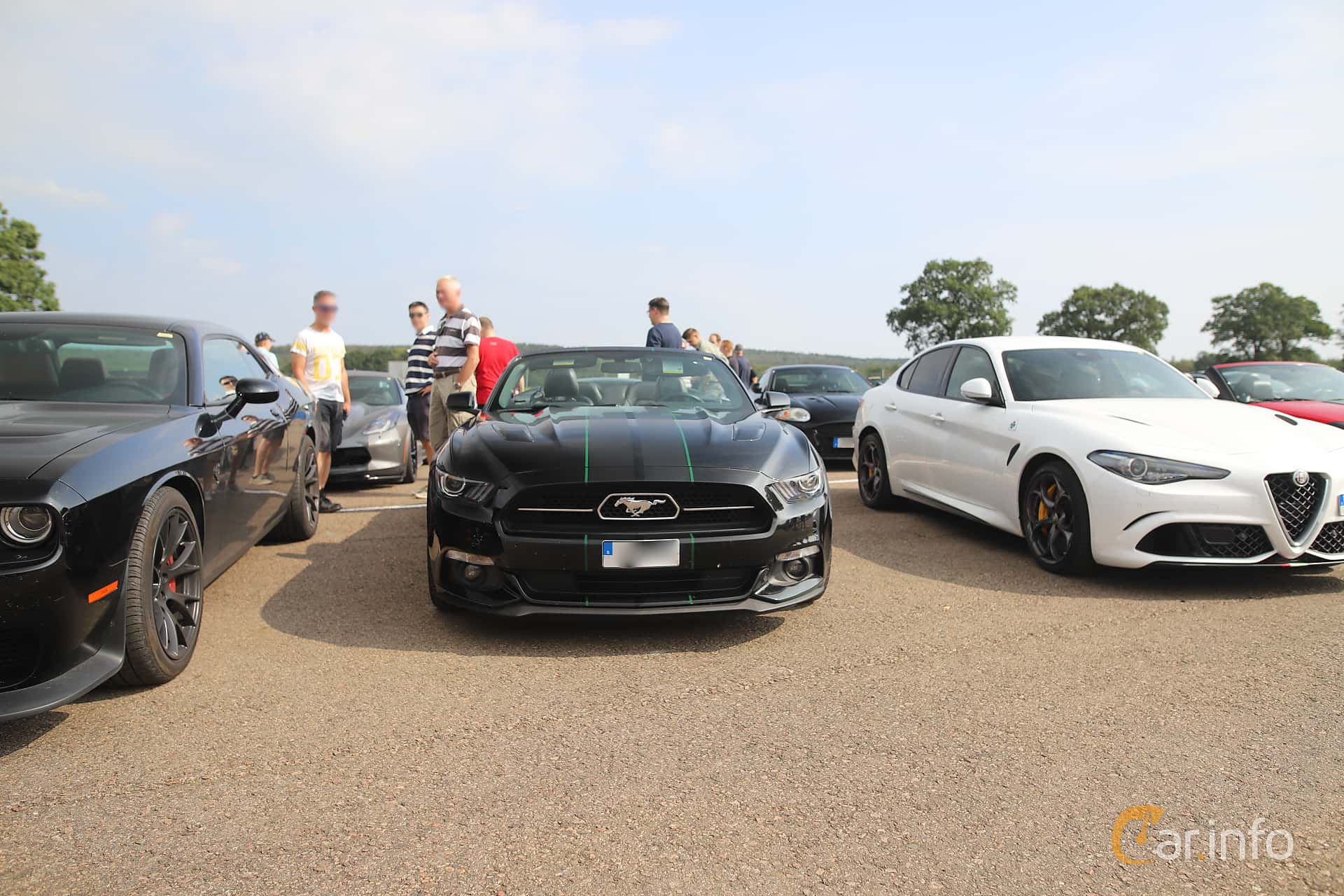 Ford Mustang GT Convertible 5.0 V8 SelectShift, 440hp, 2015 at Autoropa Racing day Knutstorp 2019