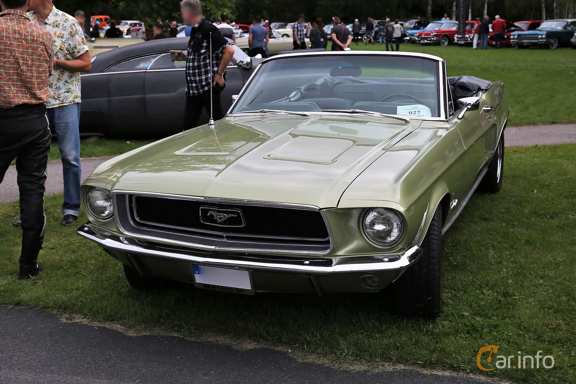 Ford Mustang Convertible 4.7 V8 Automatic, 198hp, 1968 at Lödöse motornostalgiska dag 2019