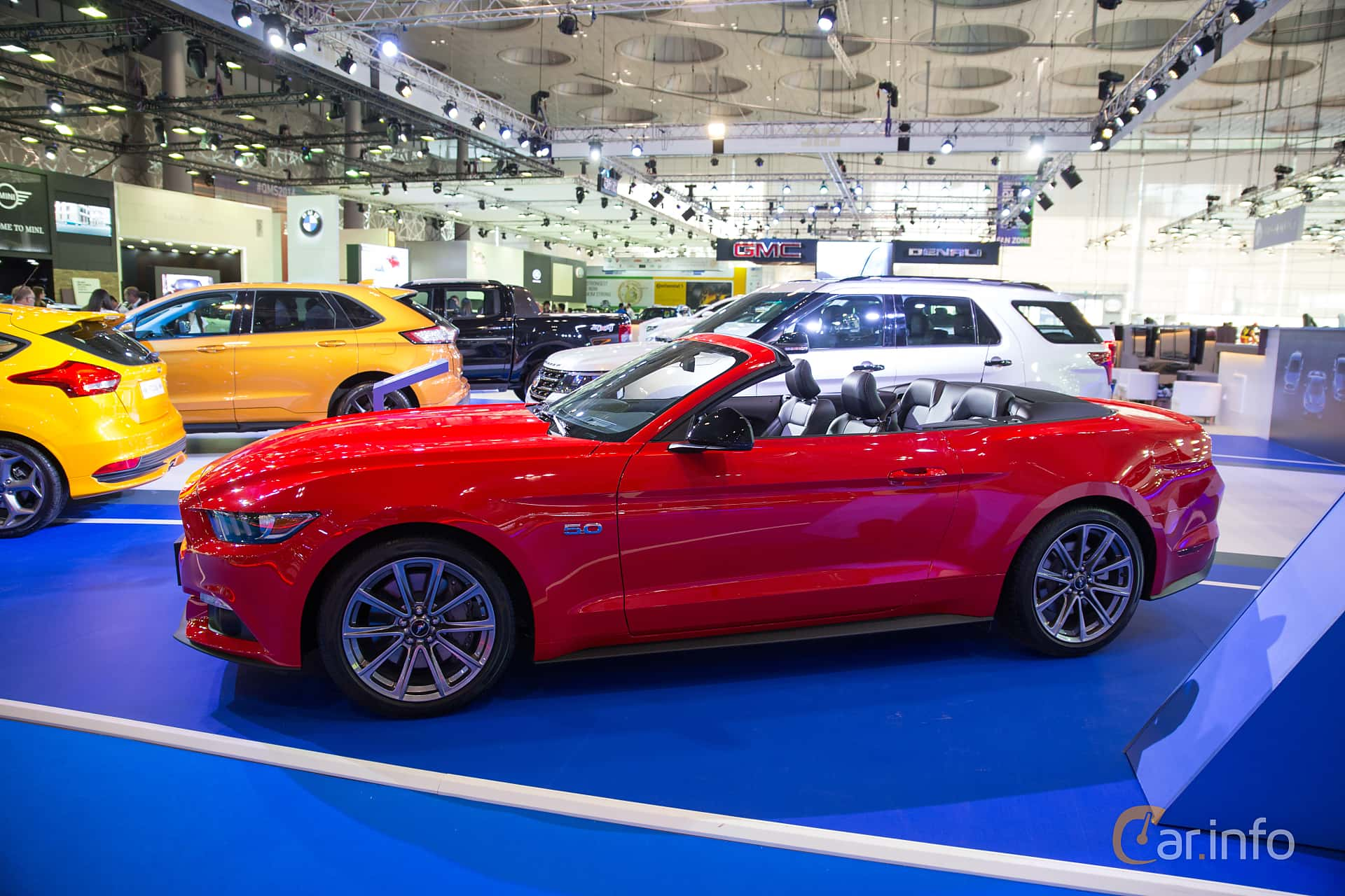 Side Of Ford Mustang Gt Convertible   At Qatar Motorshow