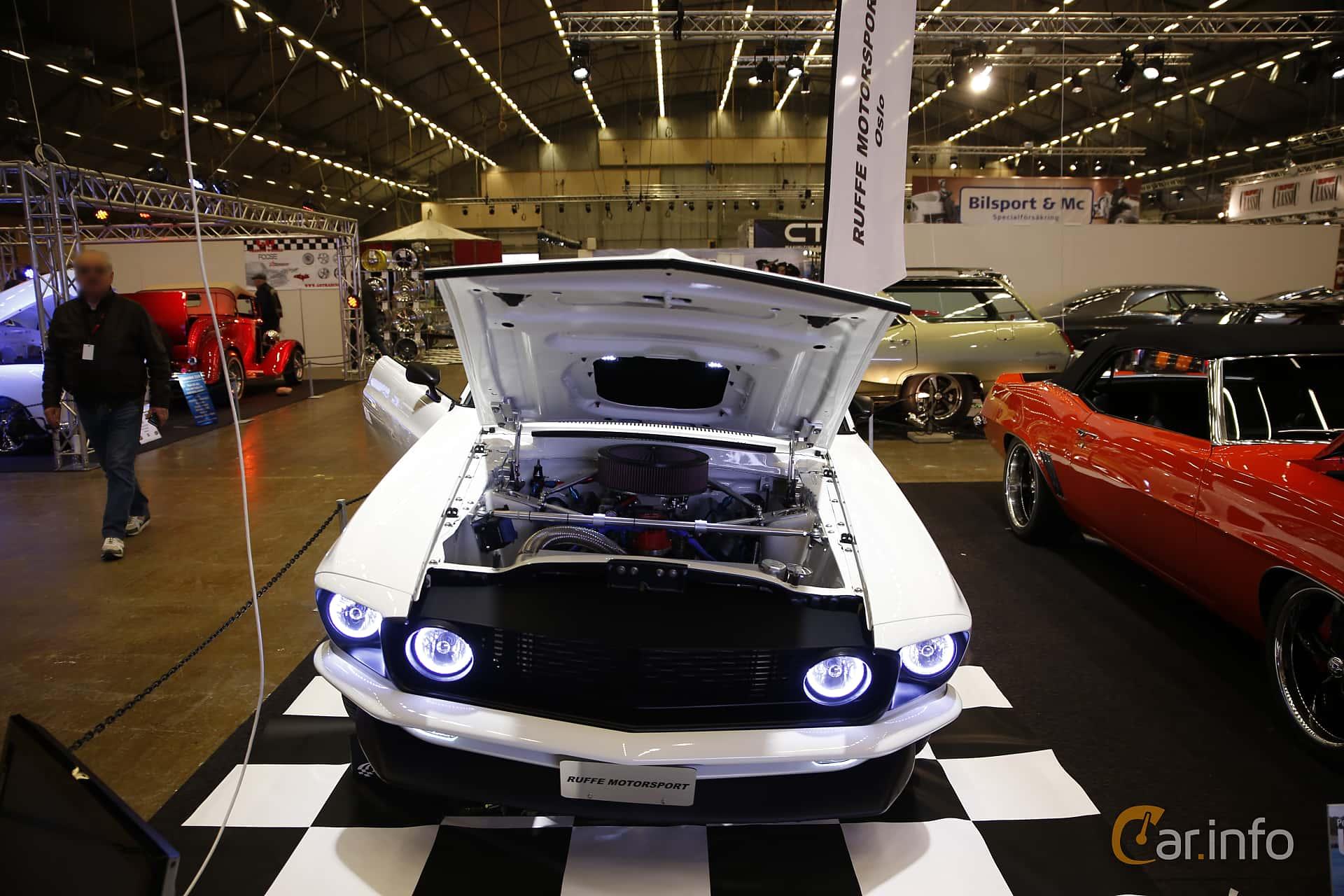 Front of ford mustang 5 8 v8 254ps 1969 at bilsport performance custom motor show