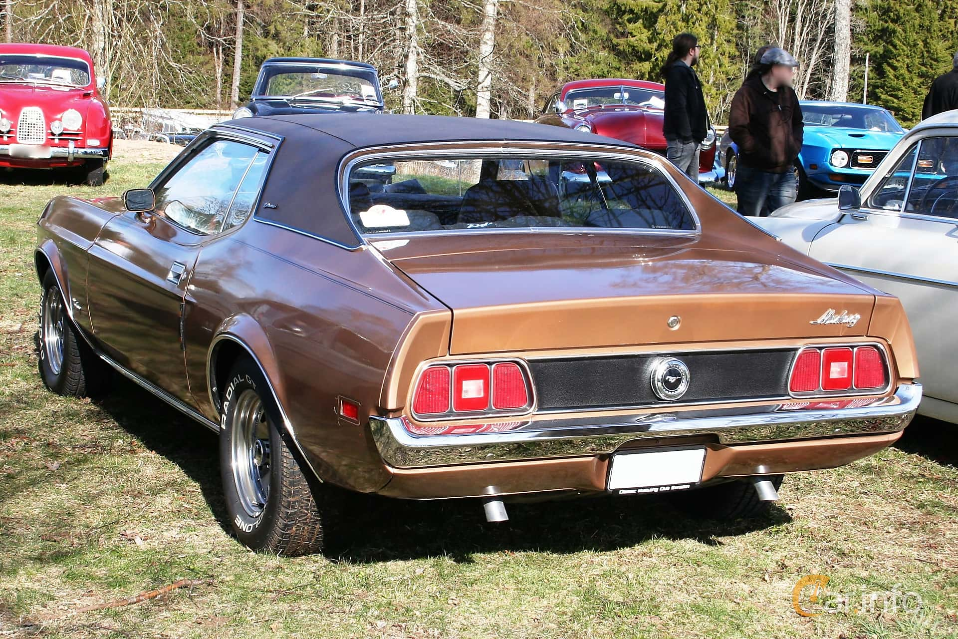 Back side of ford mustang hardtop 5 8 v8 automatic 159ps 1972