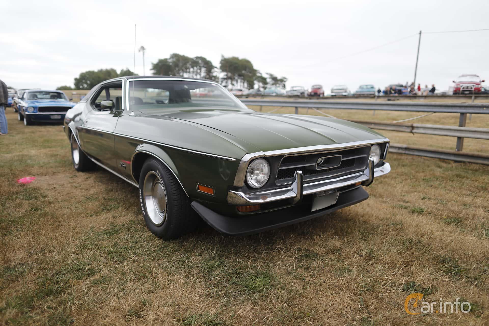 Front side of ford mustang hardtop grande 4 9 v8 manual 137ps 1972 at