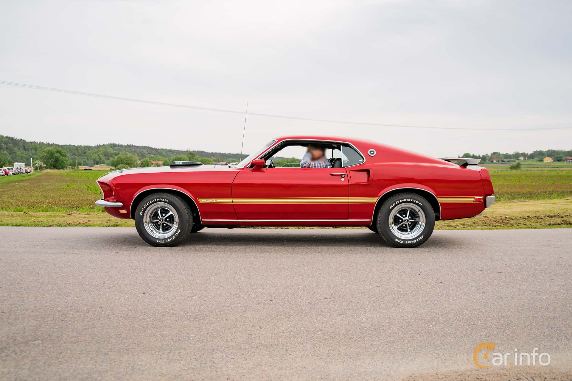Ford Mustang Mach I 5.8 V8 Automatic, 254hp, 1969 at Tjolöholm Classic Motor 2016