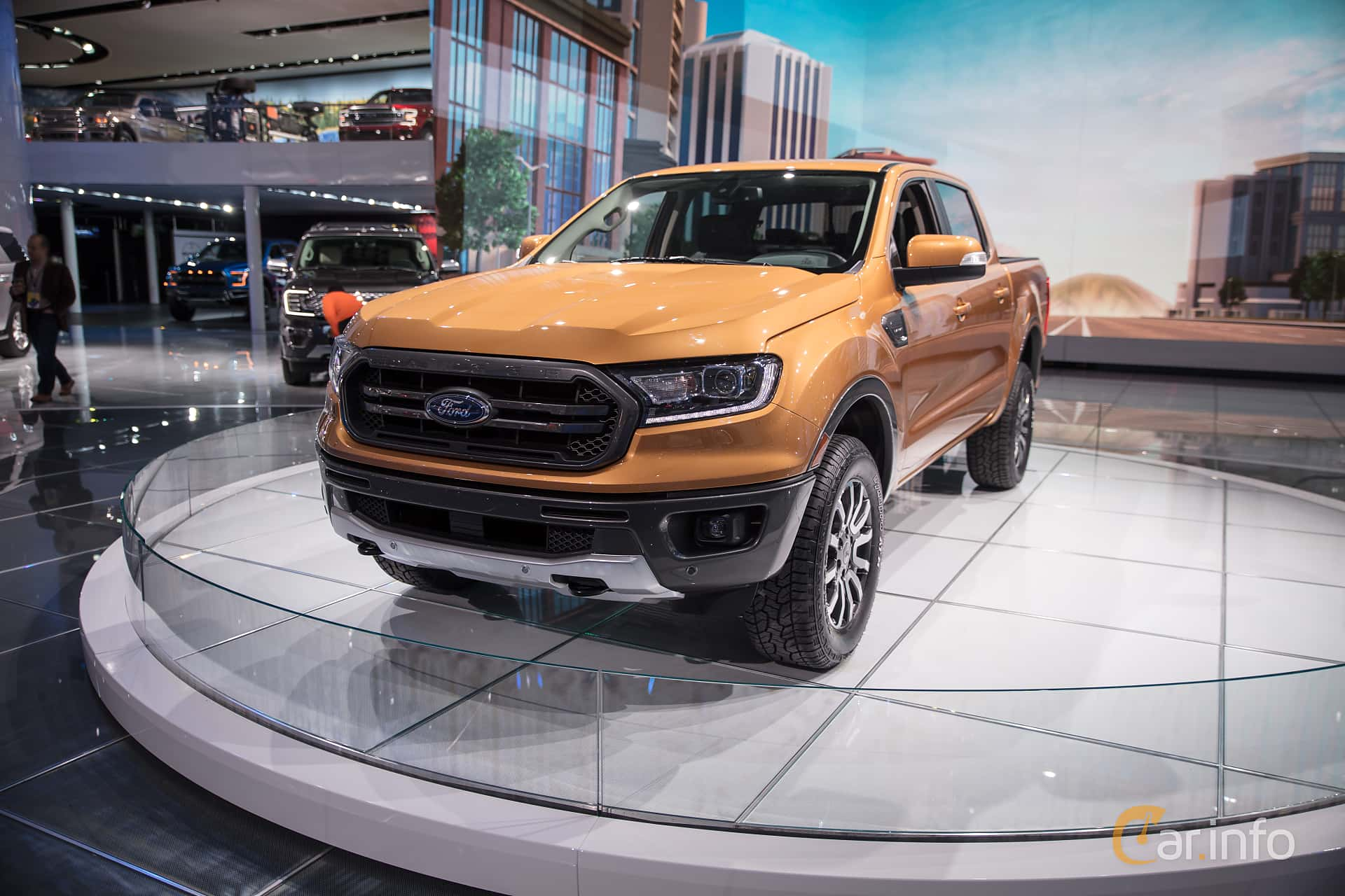 Front/Side  of Ford Ranger SuperCrew 2.3 EcoBoost 4x4 Automatic, 274ps, 2019 at North American International Auto Show 2018