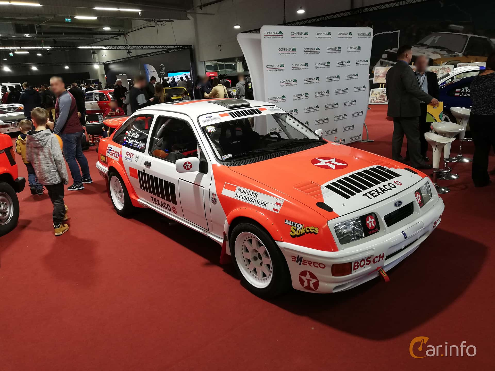 Front/Side  of Ford Sierra RS Cosworth 3-door 2.0 Manual, 204ps, 1986 at Warsawa Motorshow 2018
