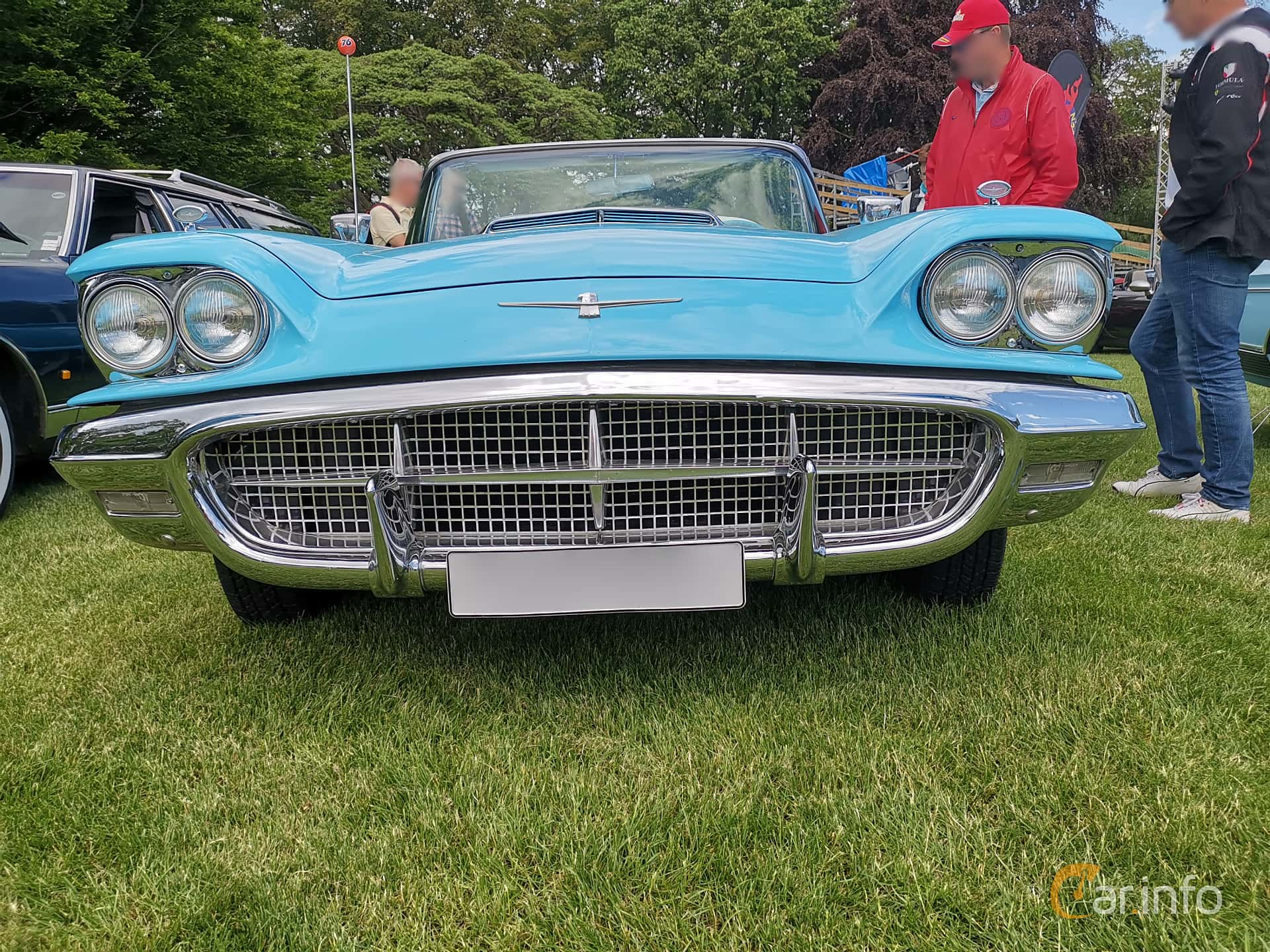 Front  of Ford Thunderbird Convertible 5.8 V8 Automatic, 305ps, 1960 at Sofiero Classic 2019