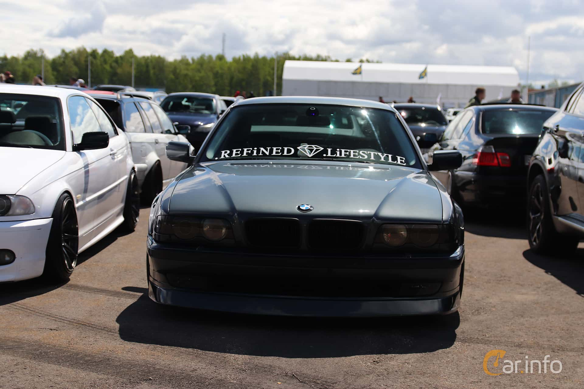 BMW 740i  Automatic, 286hp, 1999 at Bimmers of Sweden @ Mantorp 2019