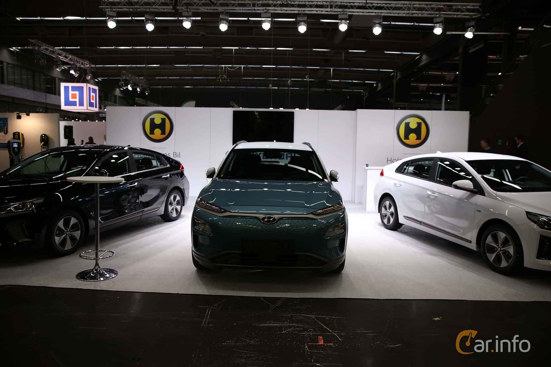 Front  of Hyundai Kona Electric 64 kWh Single Speed, 204ps, 2019 at eCar Expo Göteborg 2018