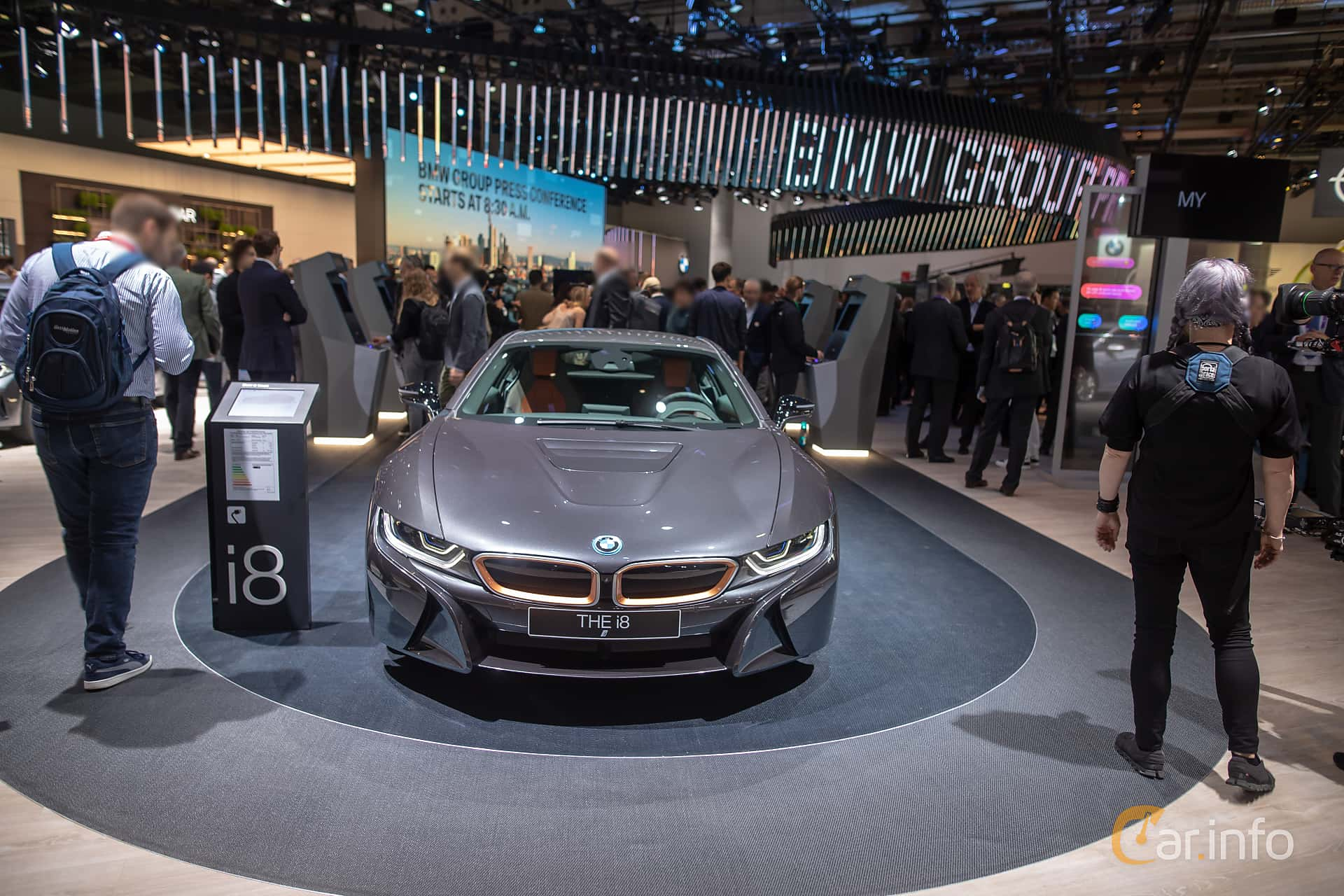 BMW i8 1.5 + 11.6 kWh Steptronic, 374hp, 2020 at IAA 2019