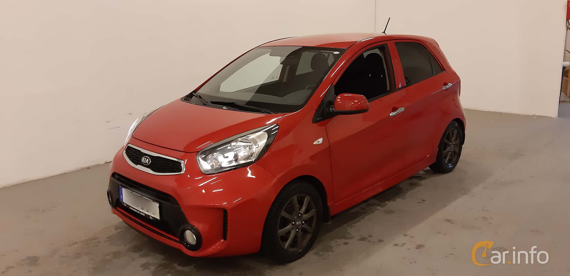 Front/Side  of Kia Picanto 5-door 1.0 Manual, 69ps, 2016