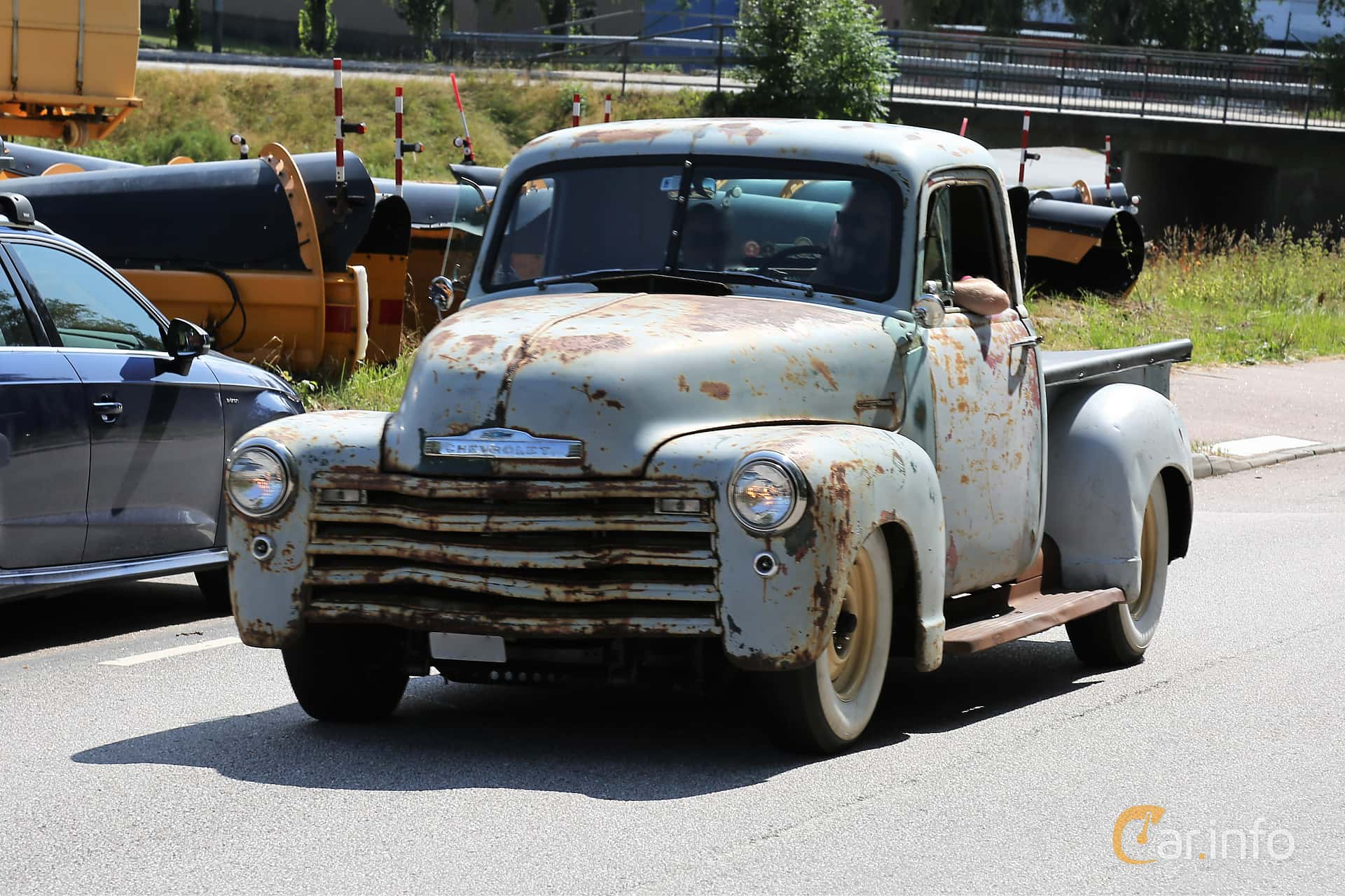 Chevrolet 3100 3.5 Manual, 91hp, 1949 at A-bombers - Old Style Weekend Backamo 2019