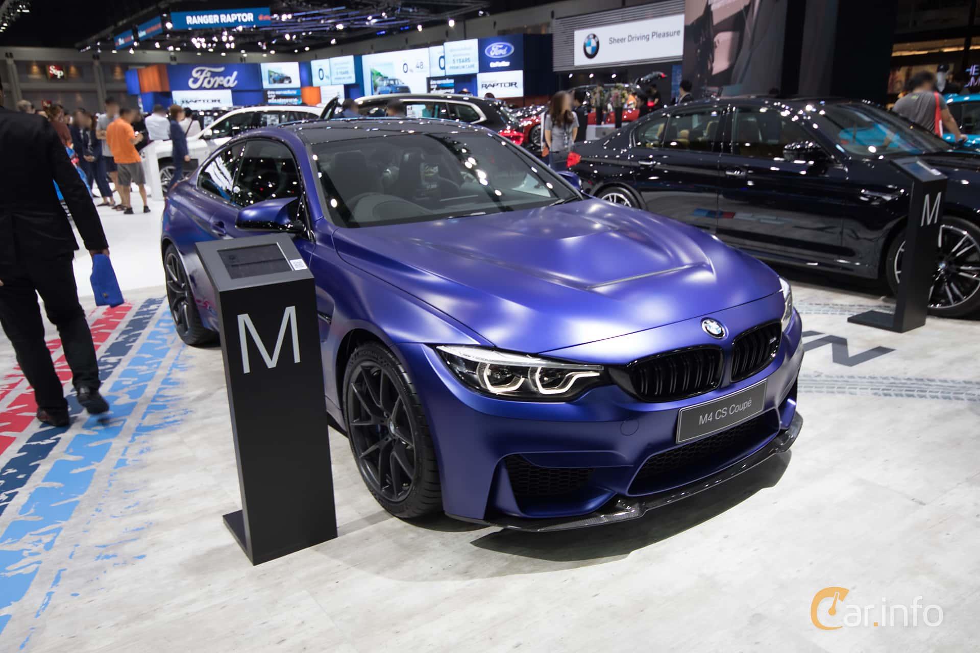 Front/Side  of BMW M4 CS  Drivelogic, 460ps, 2019 at Bangkok Motor Show 2019